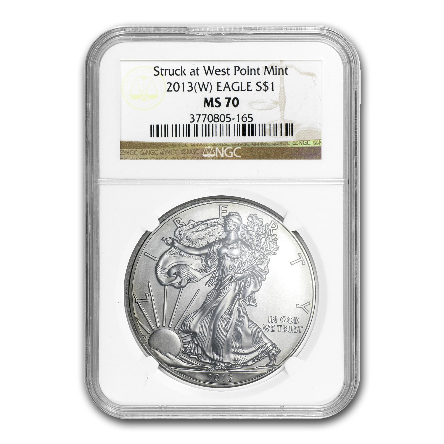 2013 (W) Silver American Eagle MS-70 NGC