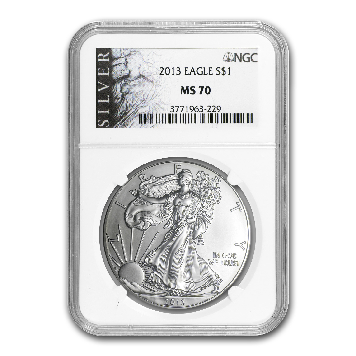 2013 Silver American Eagle MS-70 NGC (ALS Label)