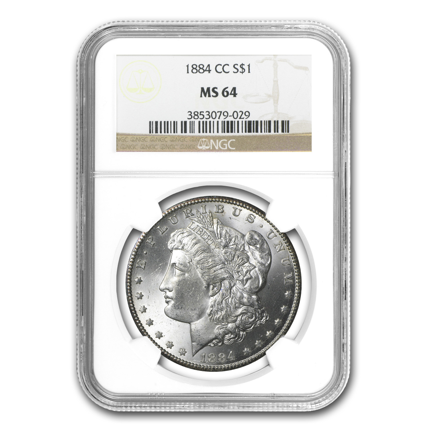 1882-1884 Morgan Dollars - MS-64 NGC (Carson City Mint)