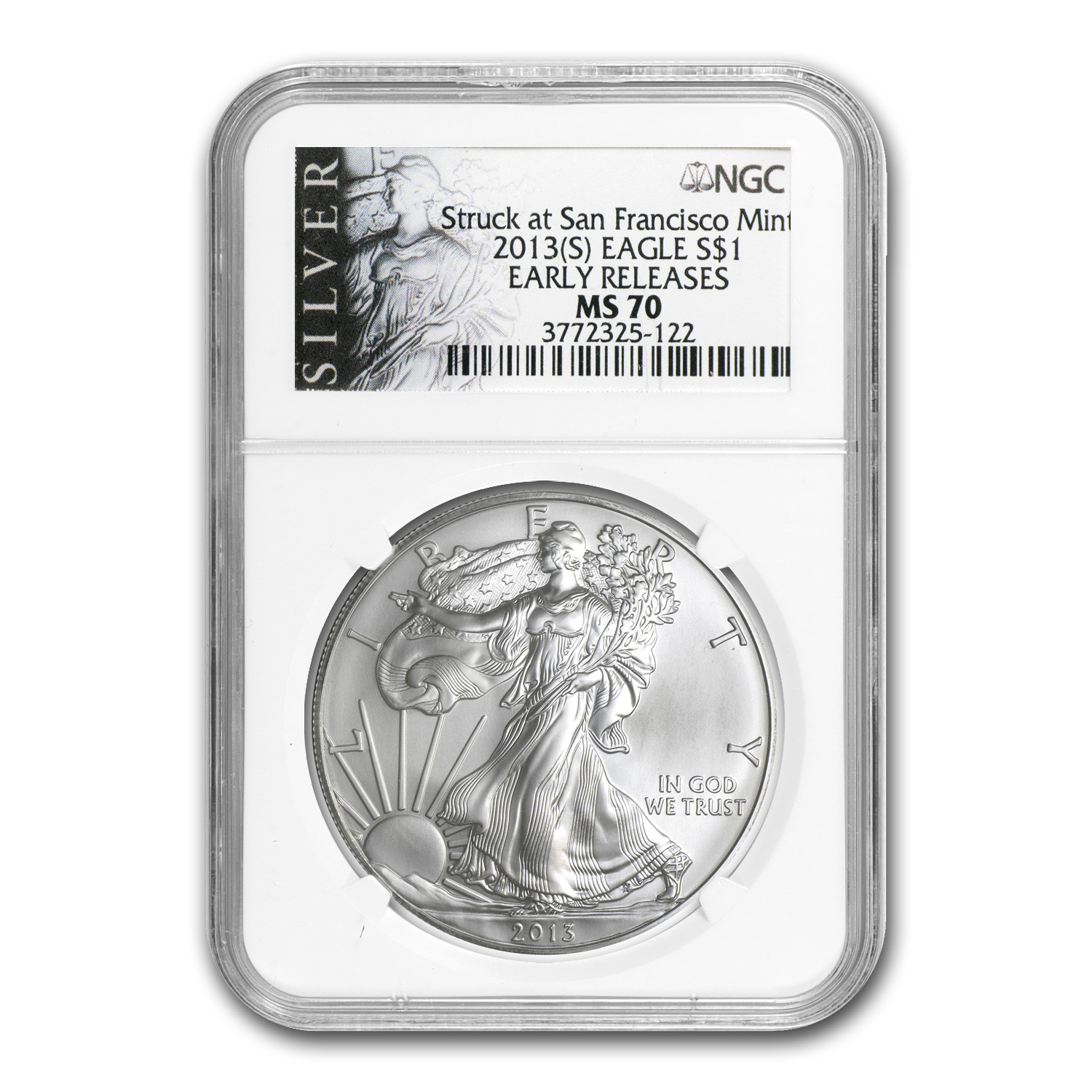 2013 (S) Silver American Eagle MS-70 NGC (ER, ALS Label)