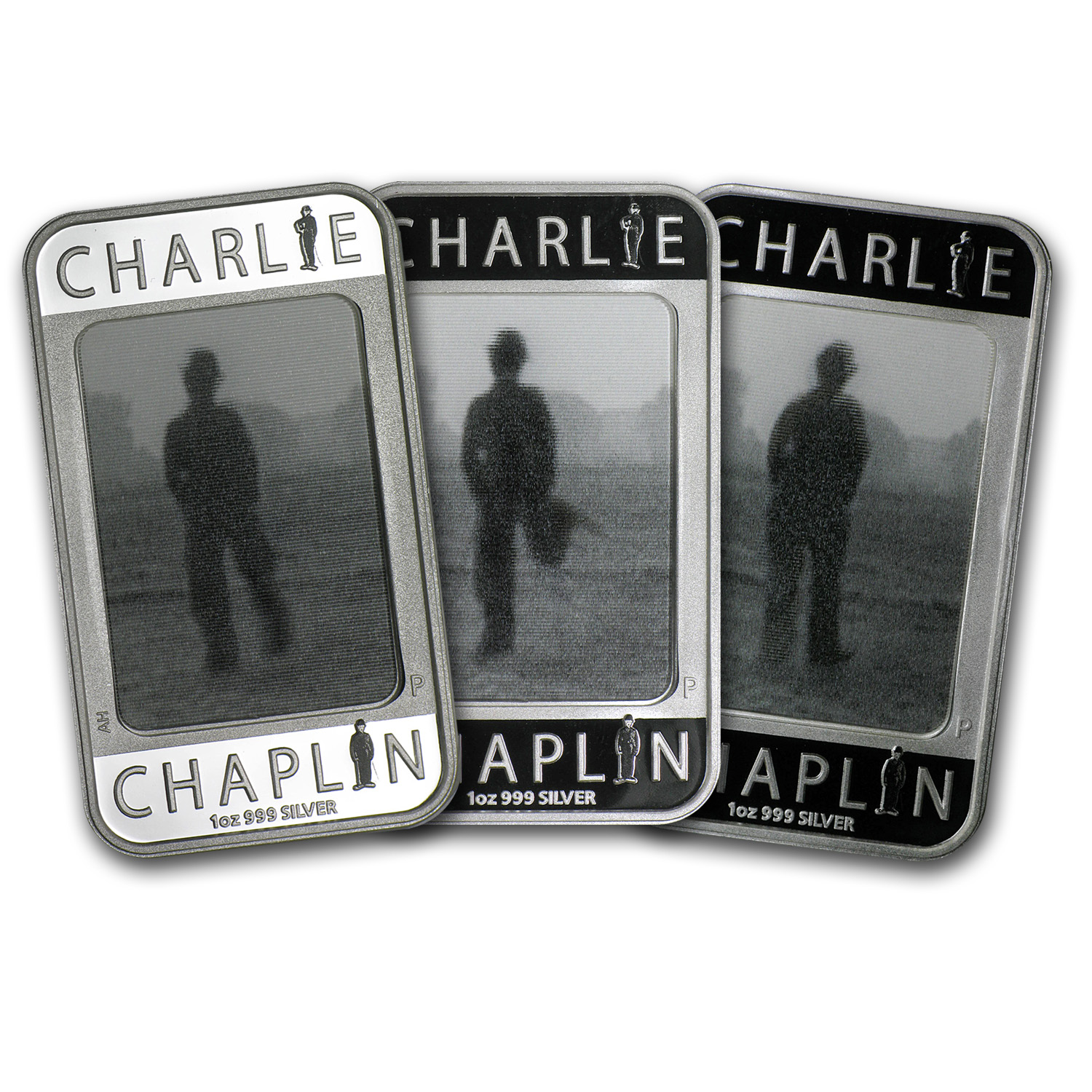 2014 1 oz Silver Bar - Charlie Chaplin Pf (100 Years of Laughter)