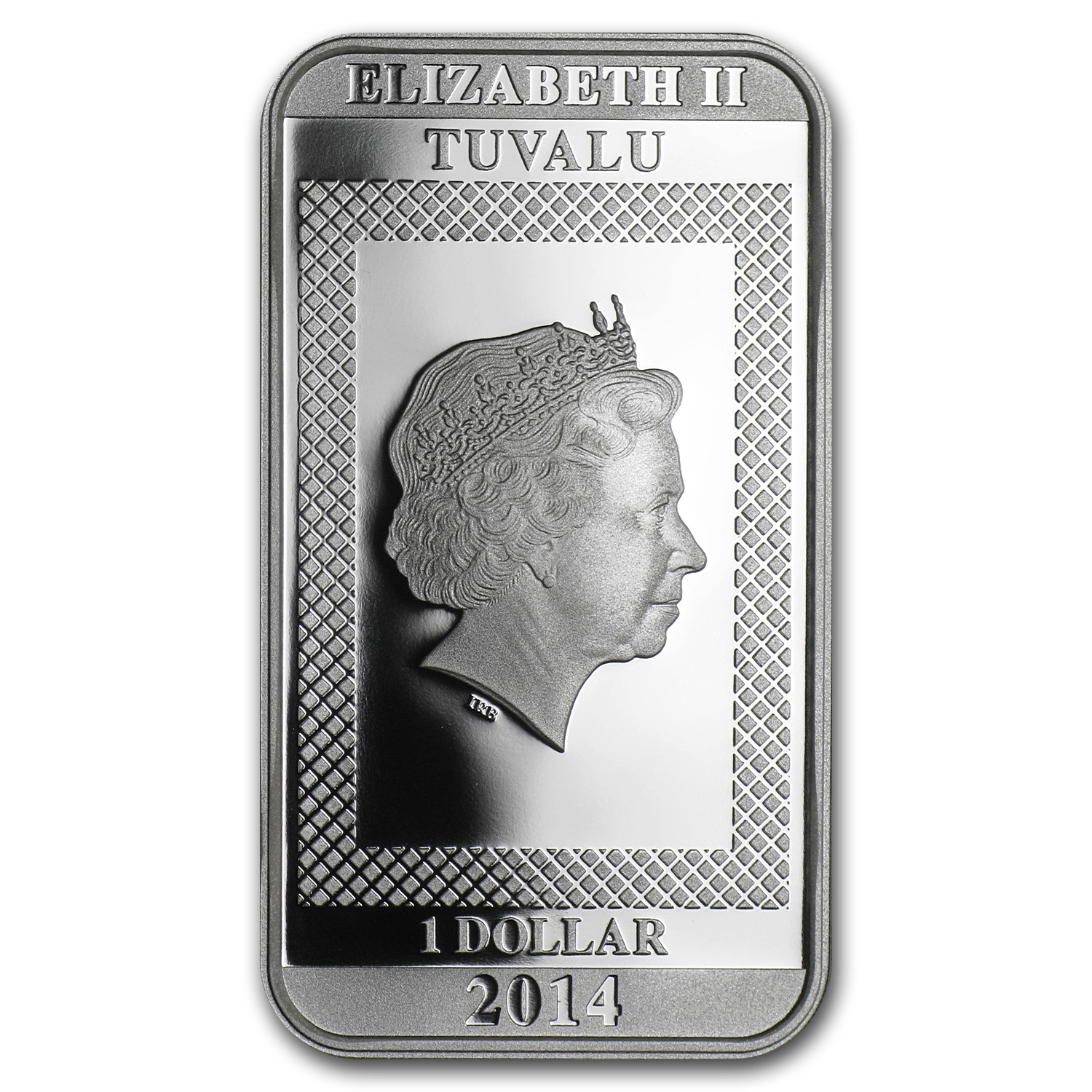 2014 1 oz Silver Bars - Charlie Chaplin (Prf/100 Years Laughter)