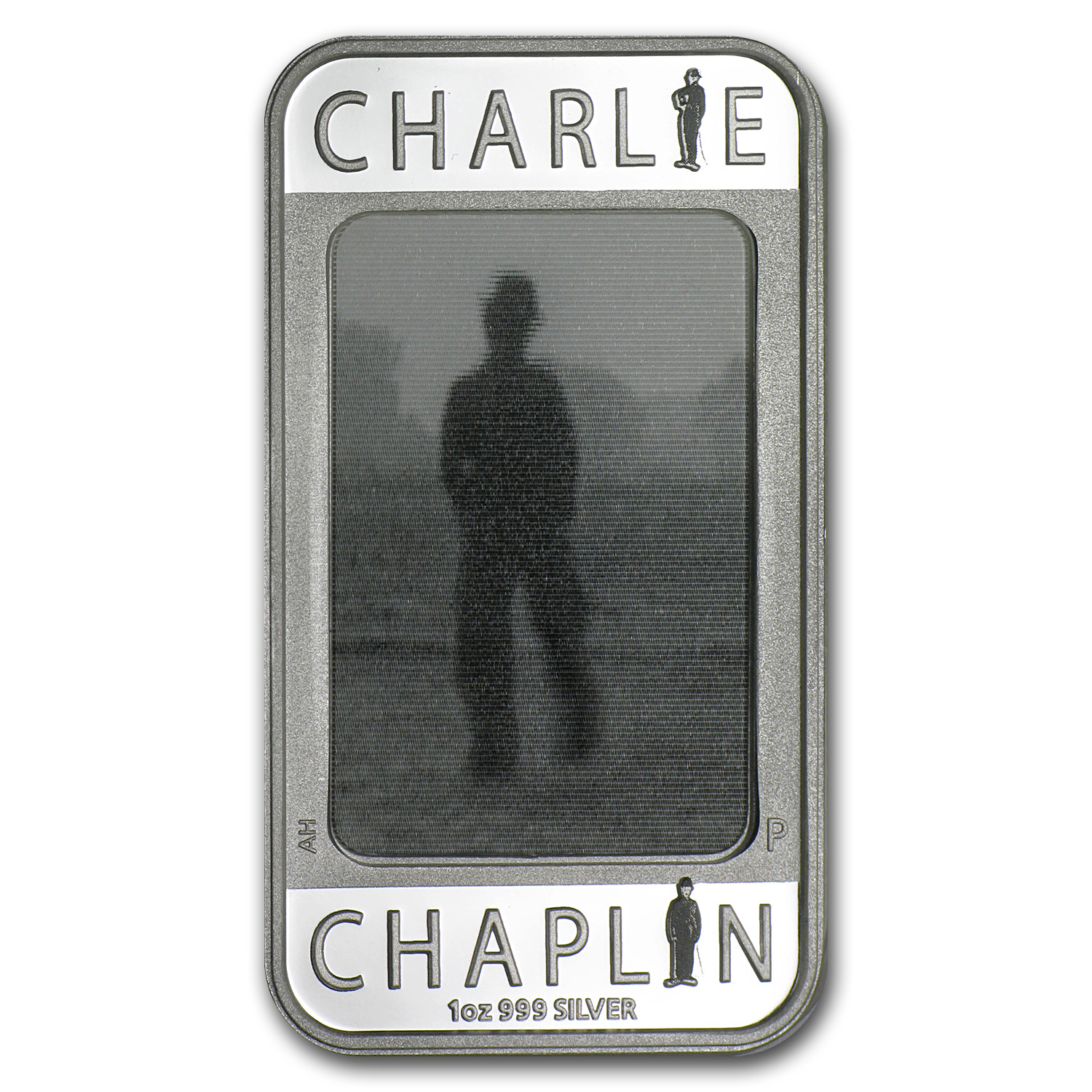 2014 1 oz Silver Charlie Chaplin 100 Yrs of Laughter Rect Coin