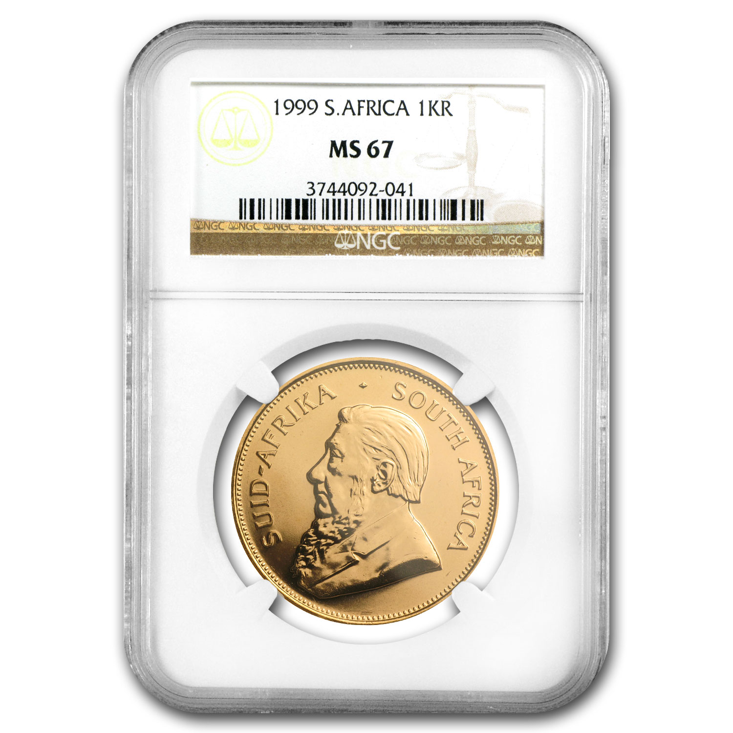 1999 South Africa 1 oz Gold Krugerrand MS-67 NGC