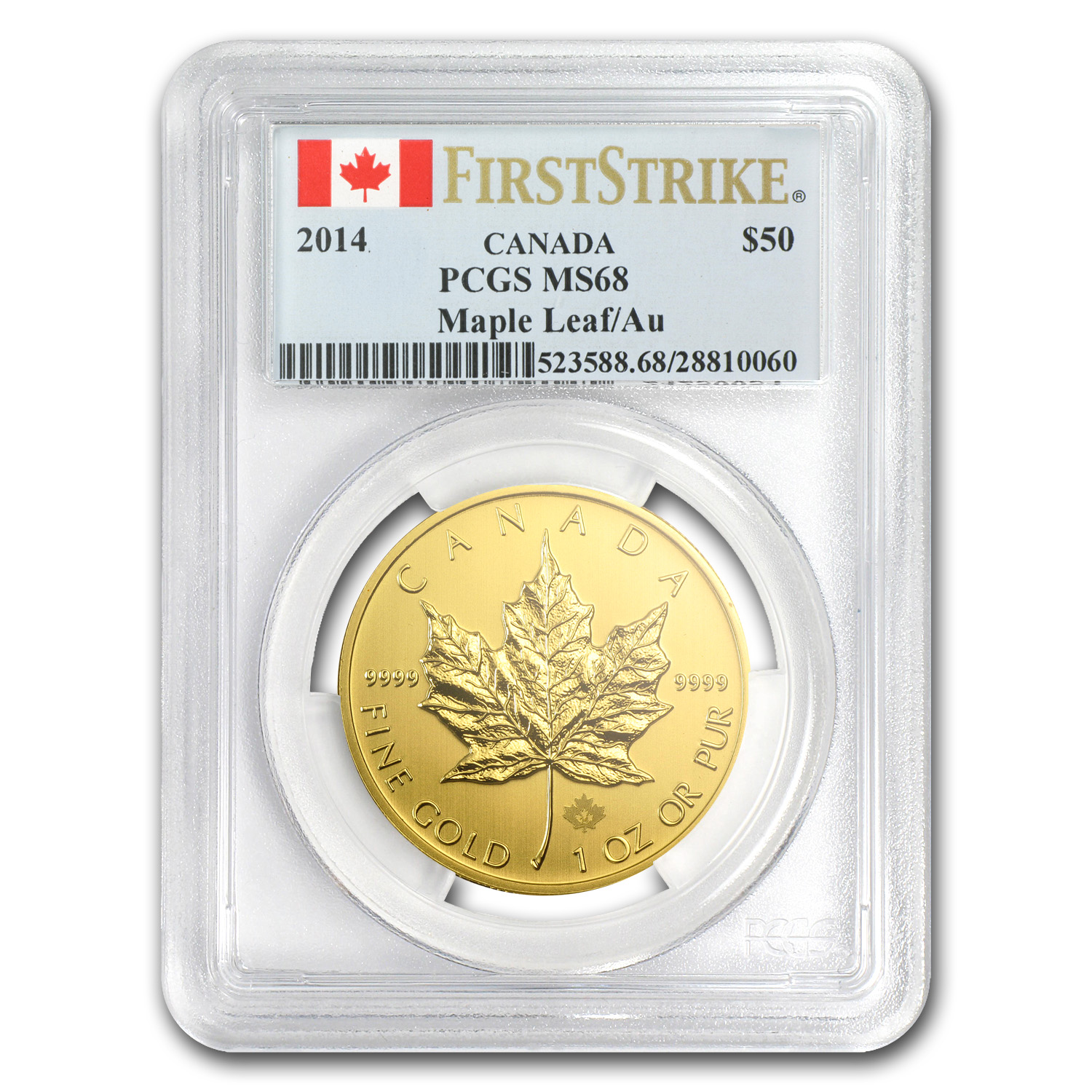 2014 Canada 1 oz Gold Maple Leaf MS-68 PCGS (First Strike)