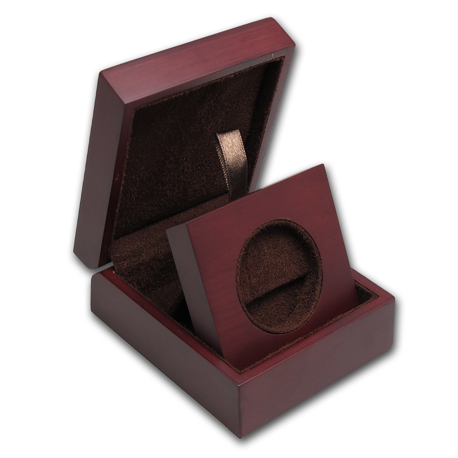 APMEX Wood Presentation Box - Misc Perth Silver & Gold Rounds