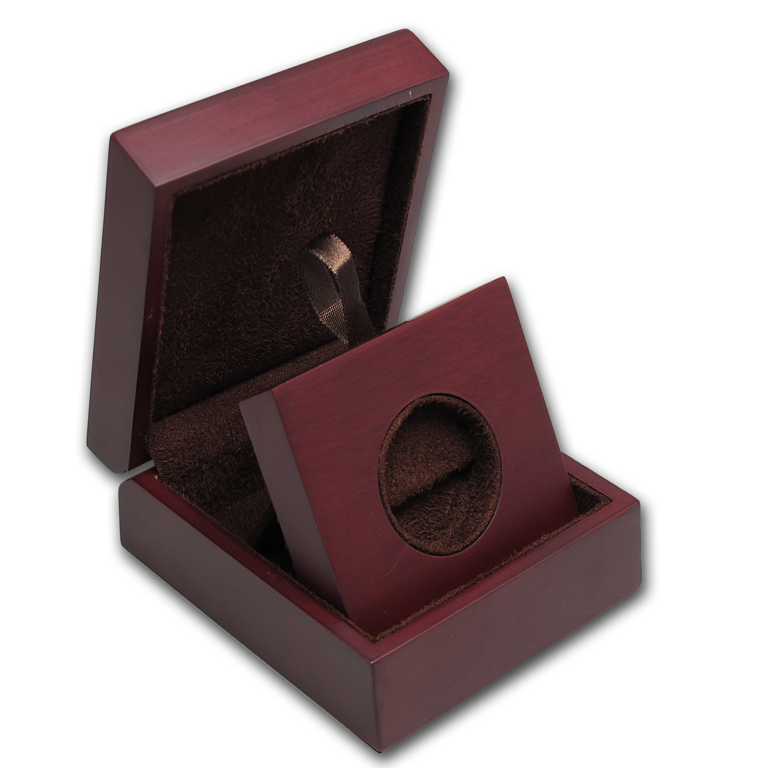 APMEX Wood Presentation Box - 1 oz Perth Gold S1/Silver S1