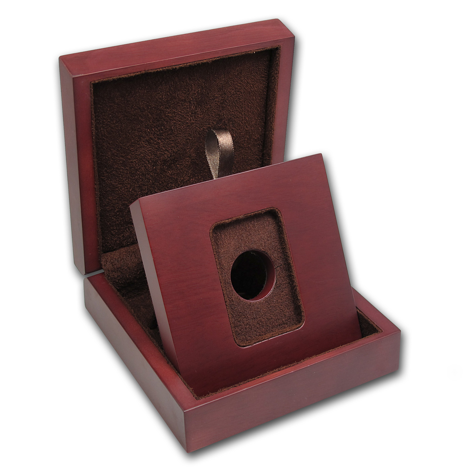 APMEX Wood Presentation Box - 1gm-10gm SMI/APMEX Gold Bar in TEP