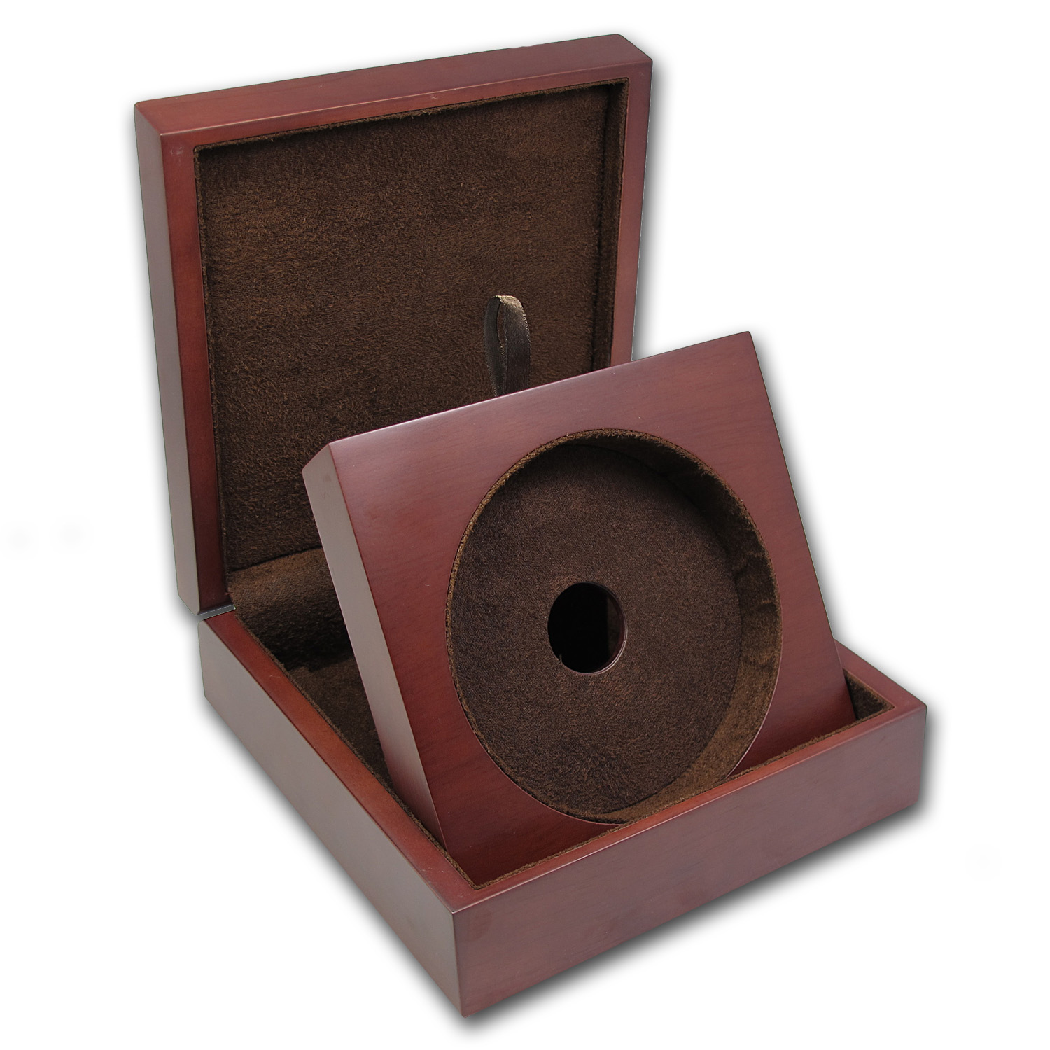 APMEX Wood Presentation Box - Kilo Silver & Gold Rounds