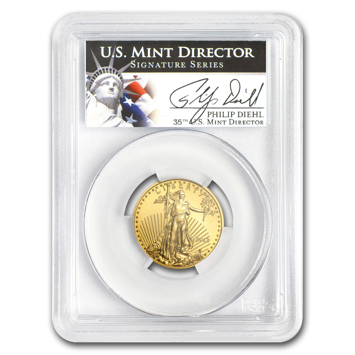 2013 1/4 oz Gold American Eagle MS-70 PCGS (Philip Diehl)