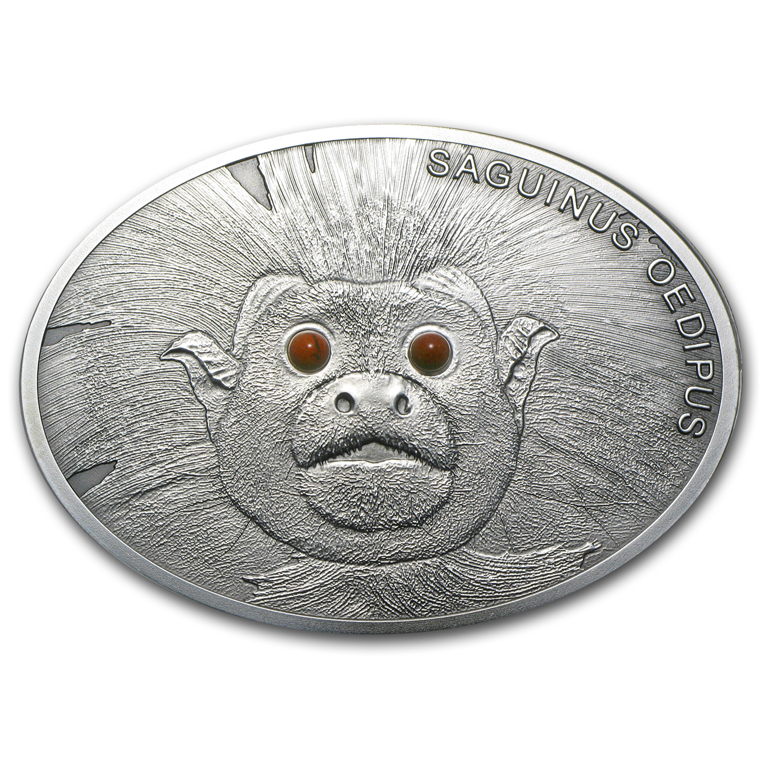 2013 Fiji 1 oz Silver $10 Fascinating Wildlife CottonTop Tamarin