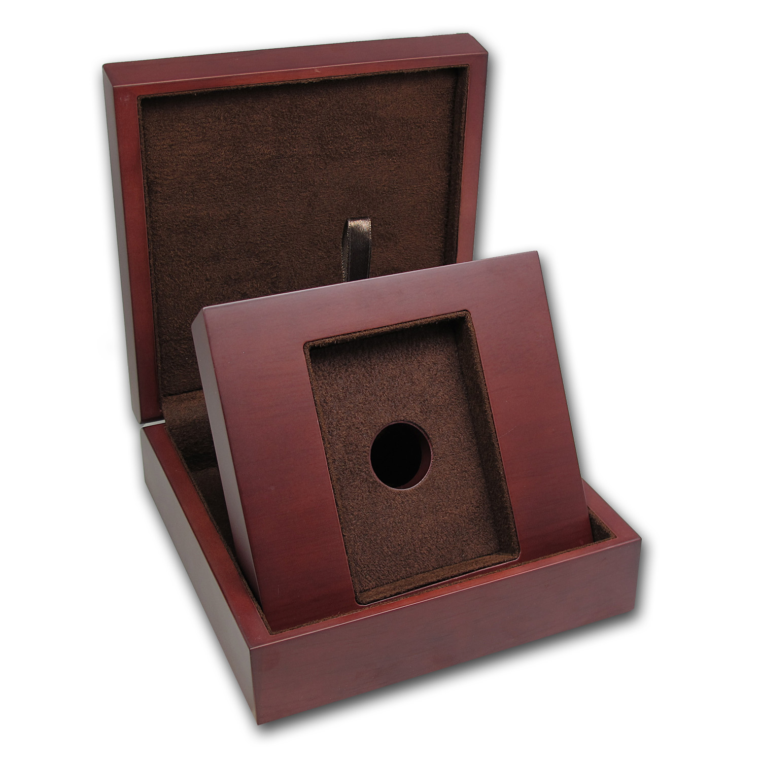APMEX Wood Presentation Box - Pamp Gold/Silver 5oz - 10oz Bar