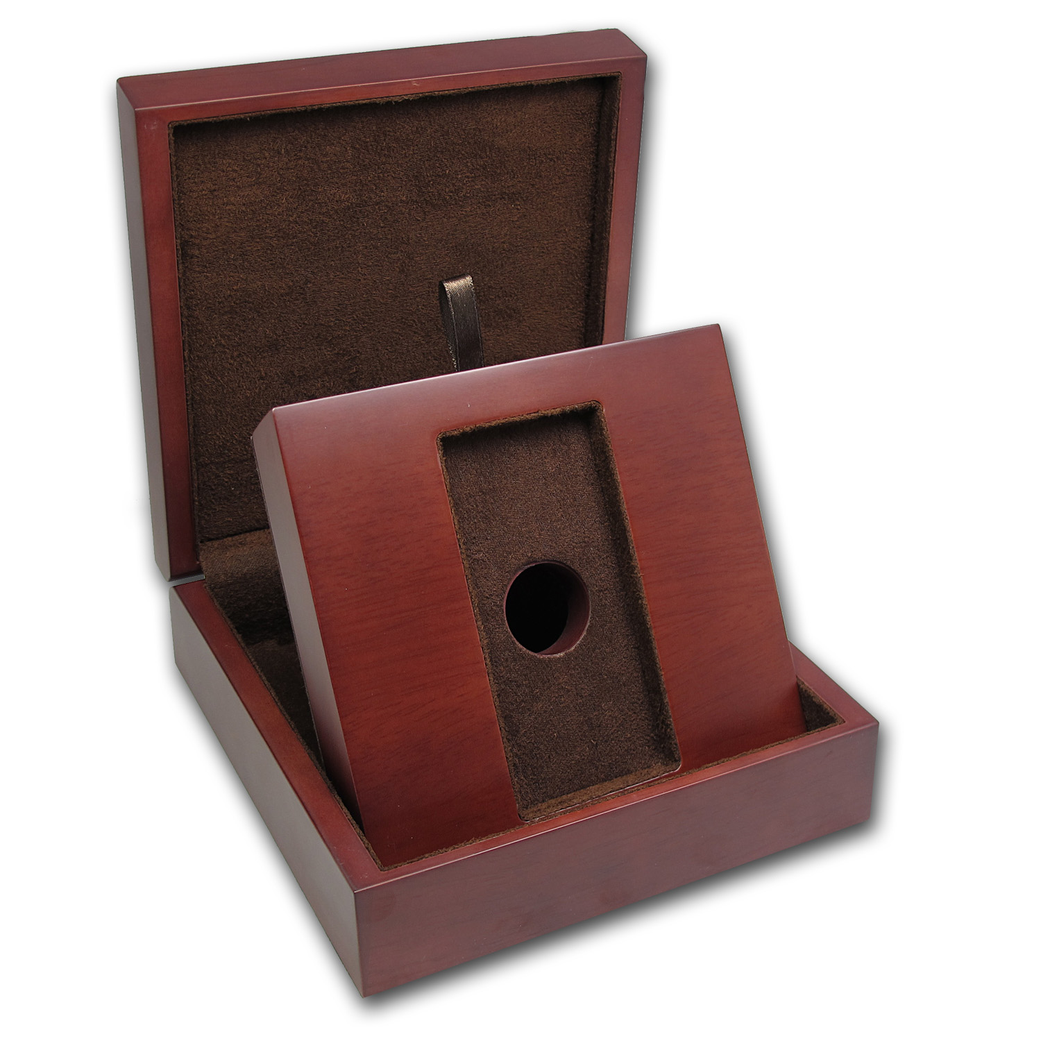APMEX Wood Presentation Box - 1 Kilo RCM Gold Bar
