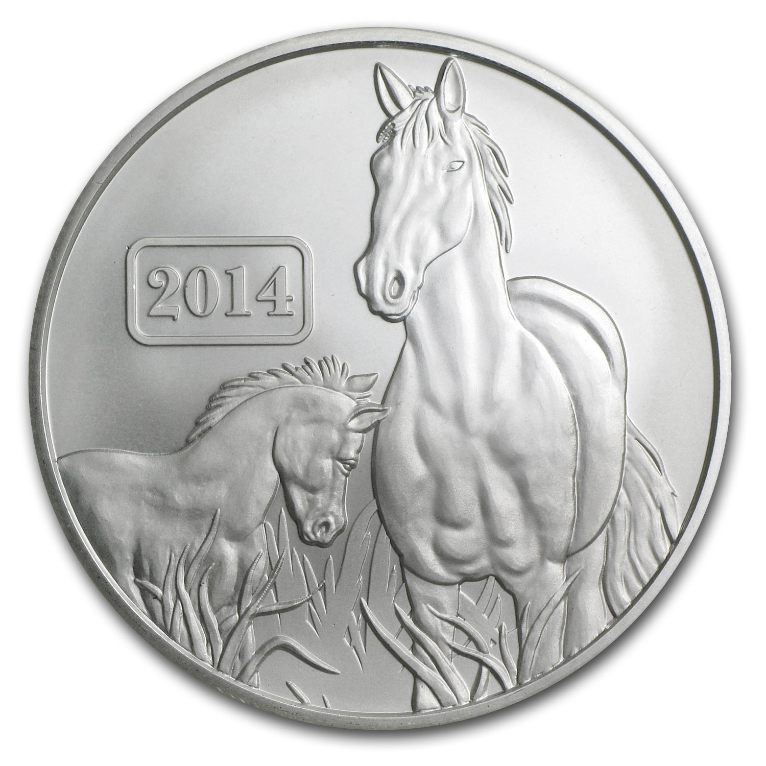 2014 Tokelau 1 oz Silver Lunar Series Year of the Horse BU