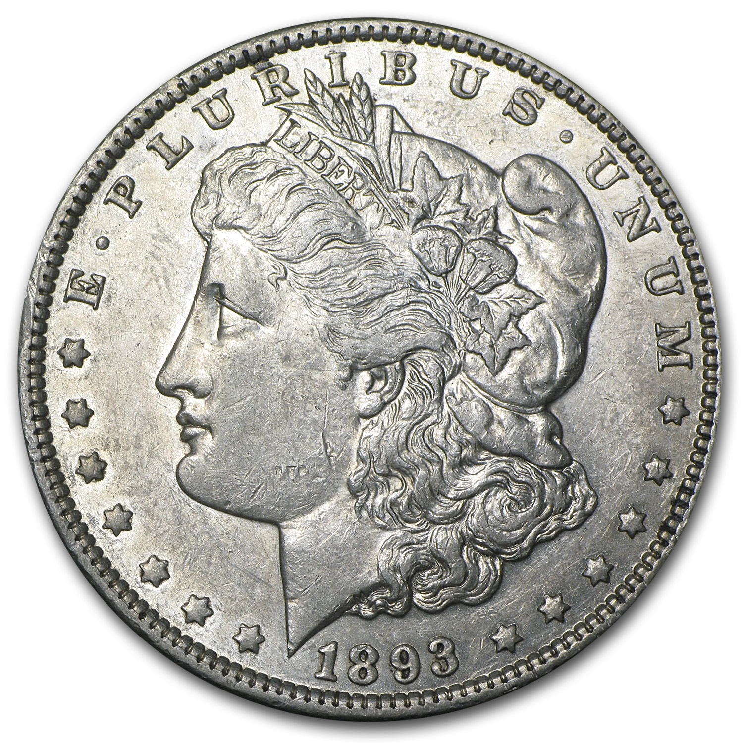 1893 Morgan Dollar - Almost Uncirculated
