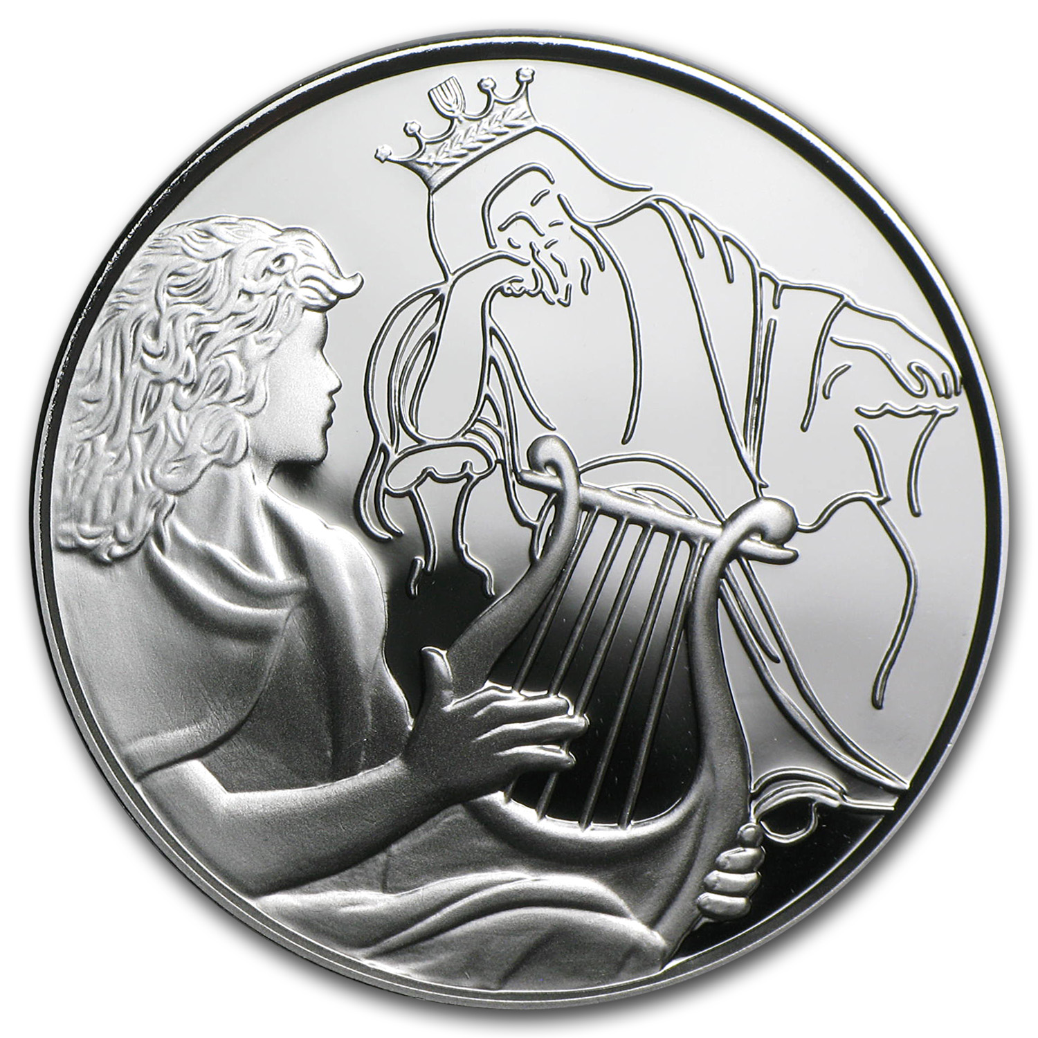 2013 Israel Silver 1 NIS David Playing for Saul Proof