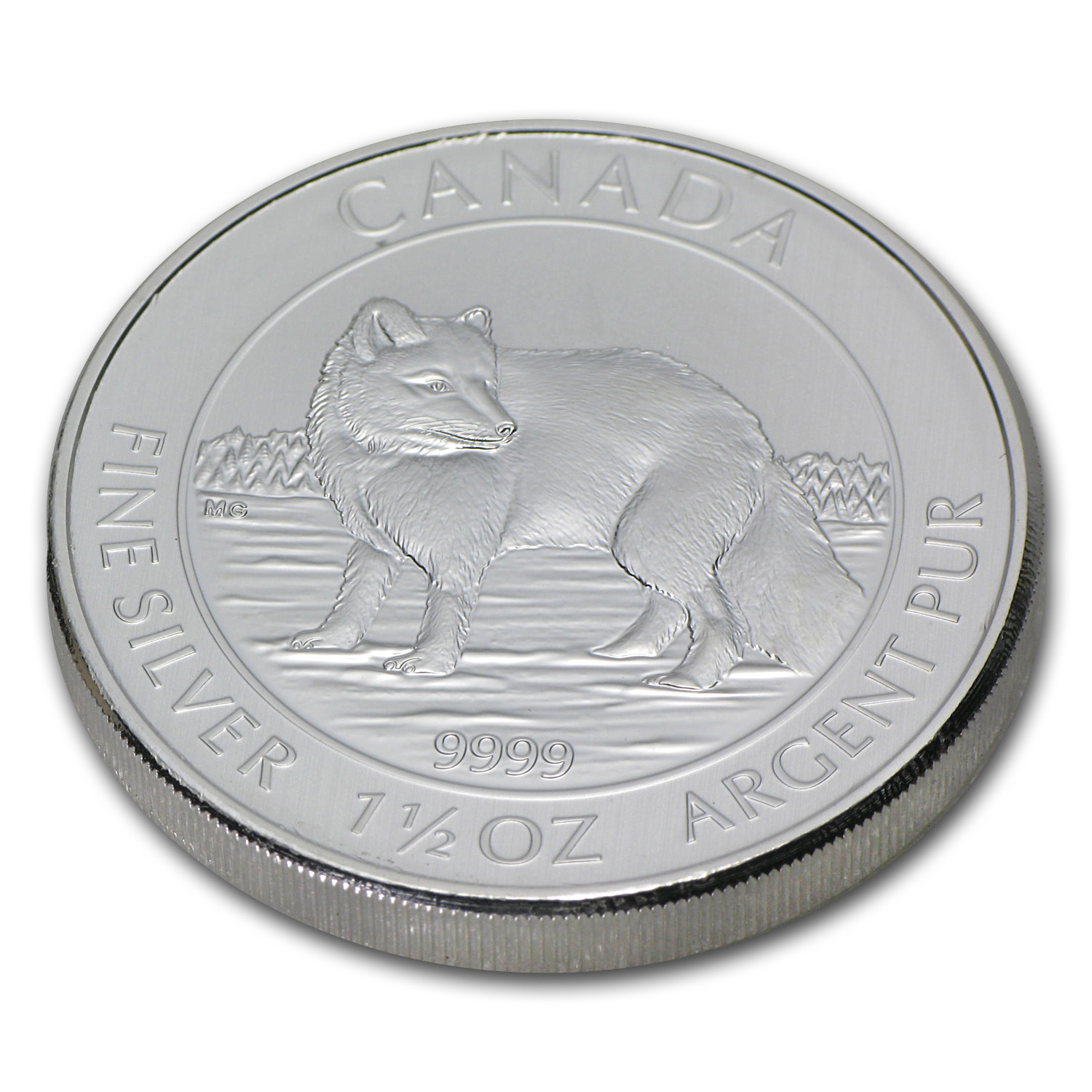 2014 1.5 oz Silver Canadian $8 Arctic Fox