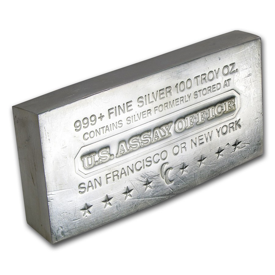 100 Oz Silver Bar U S Assay Office Struck 100 Oz