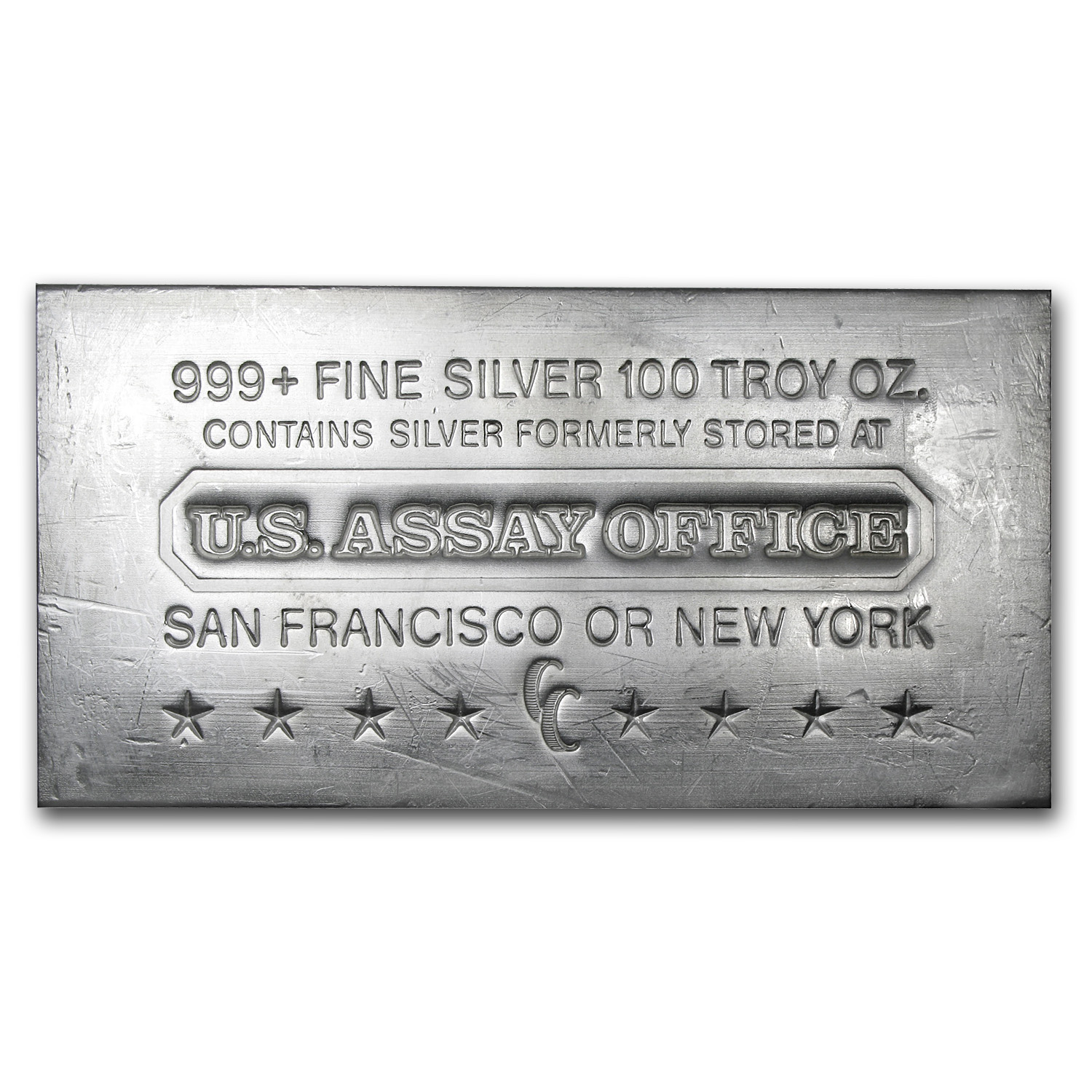 100 oz Silver Bar - U.S. Assay Office (Struck)
