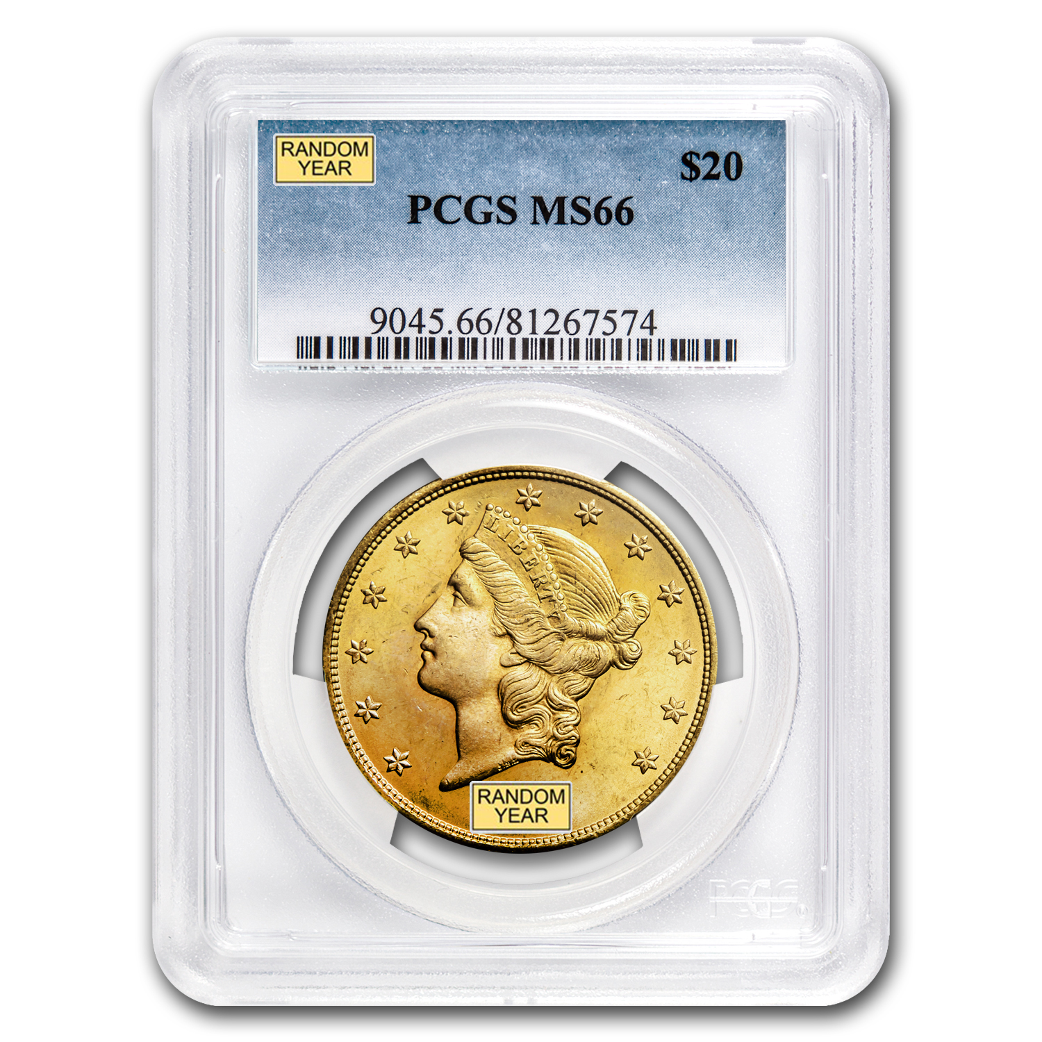 $20 Liberty Gold Double Eagle MS-66 PCGS (Random)