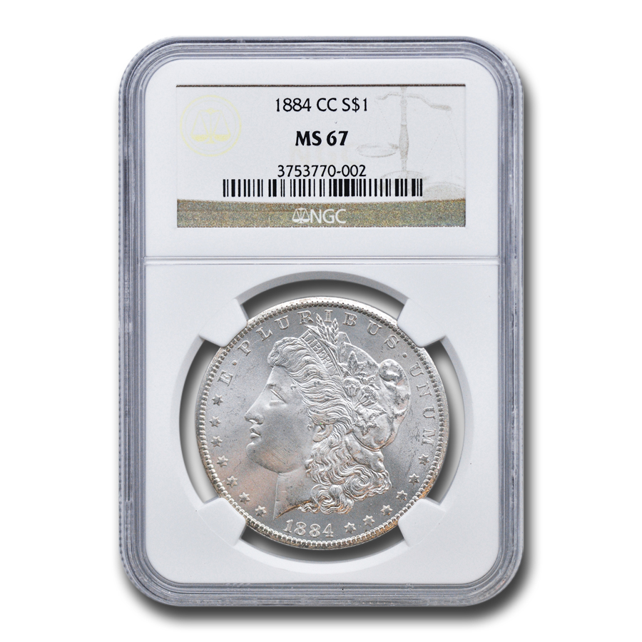 1884-CC Morgan Dollar - MS-67 NGC