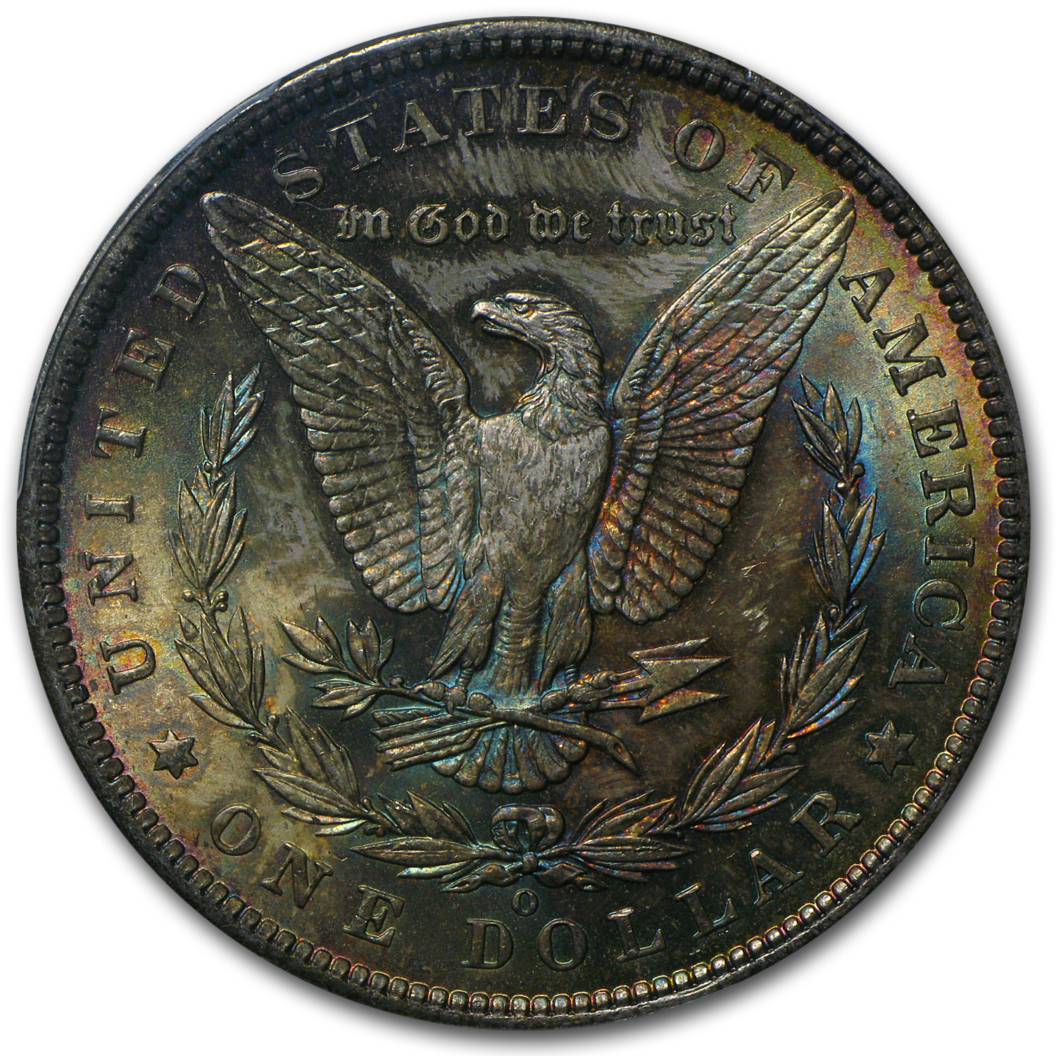 1885-O Morgan Dollar MS-63 PCGS - Elegant Toning - CAC