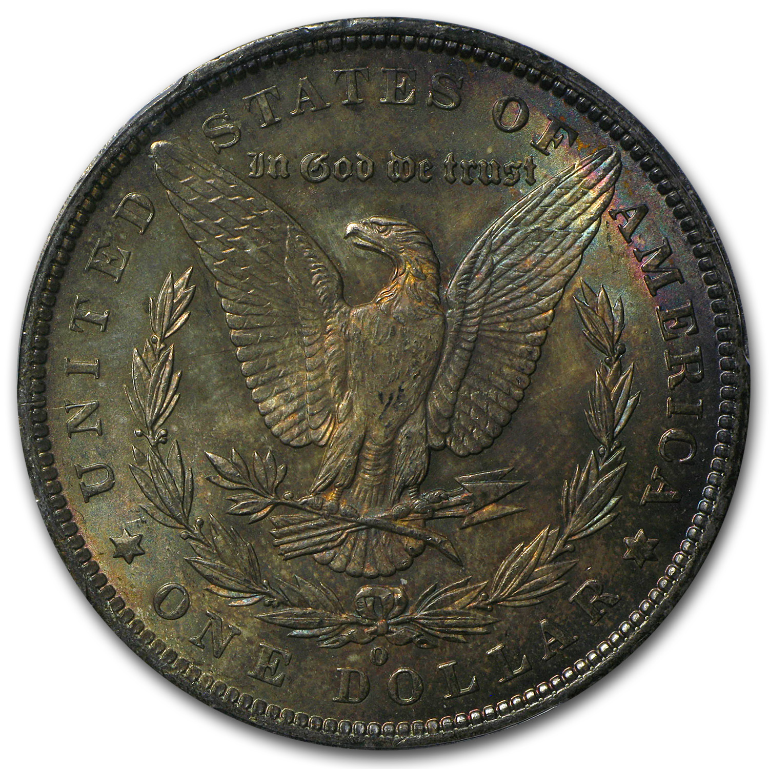 1885-O Morgan Dollar MS-64 PCGS (Umber Toning, CAC)