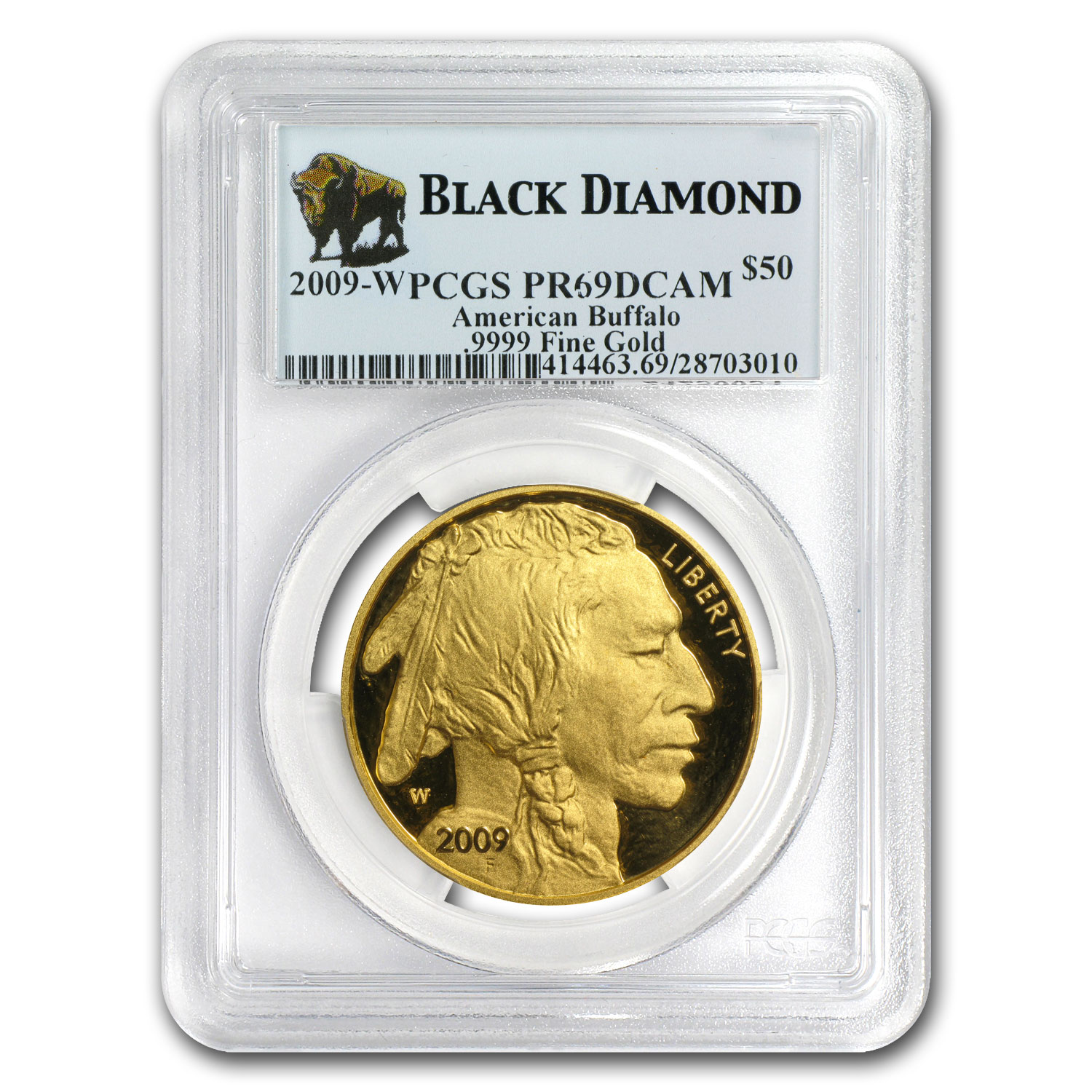 2006-2013 8-Coin 1 oz Gold Buffalo Set PR-69 PCGS (Black Diamond)