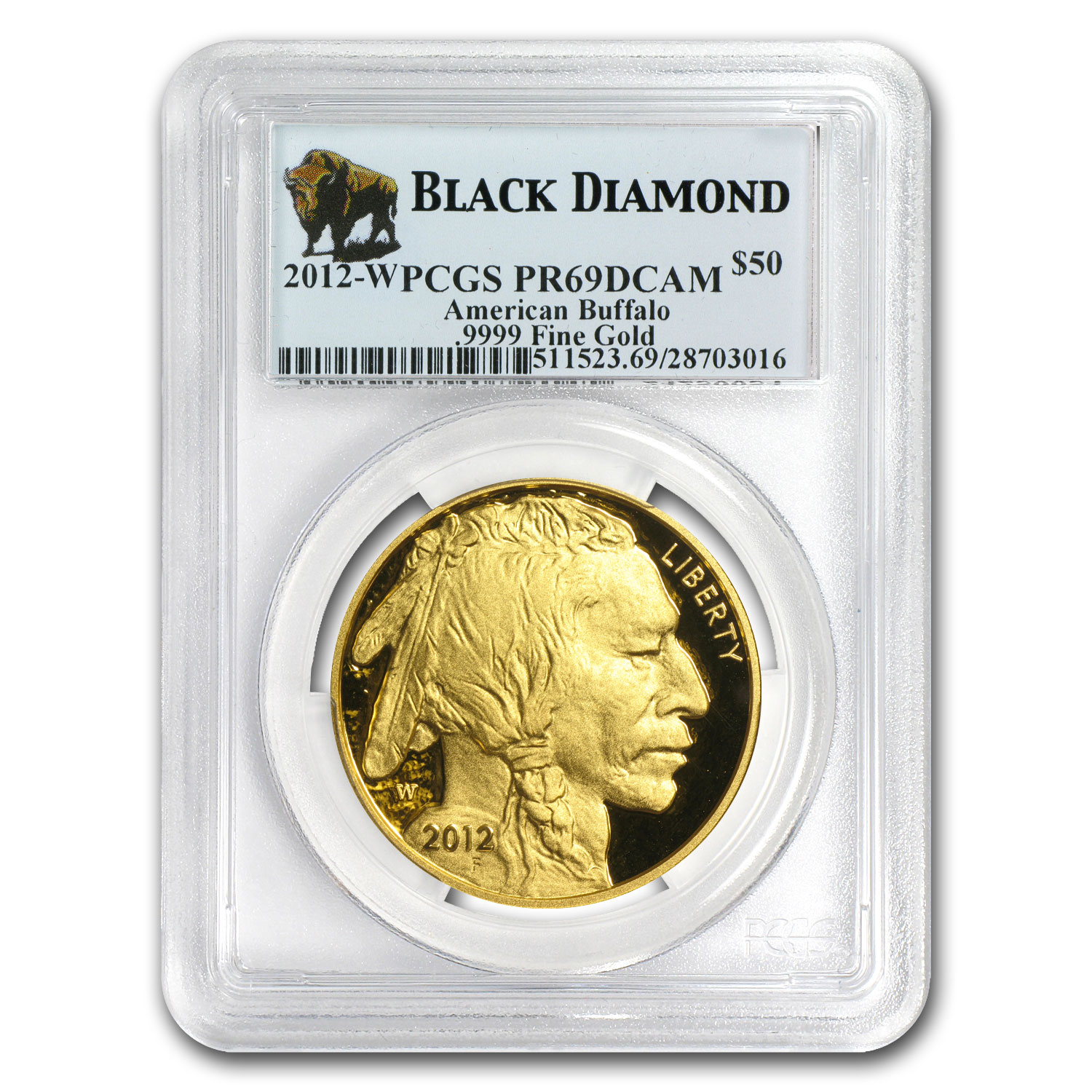 2006-2013 1 oz Gold Buffalo PR-69 PCGS Black Diamond 8-Coin Set