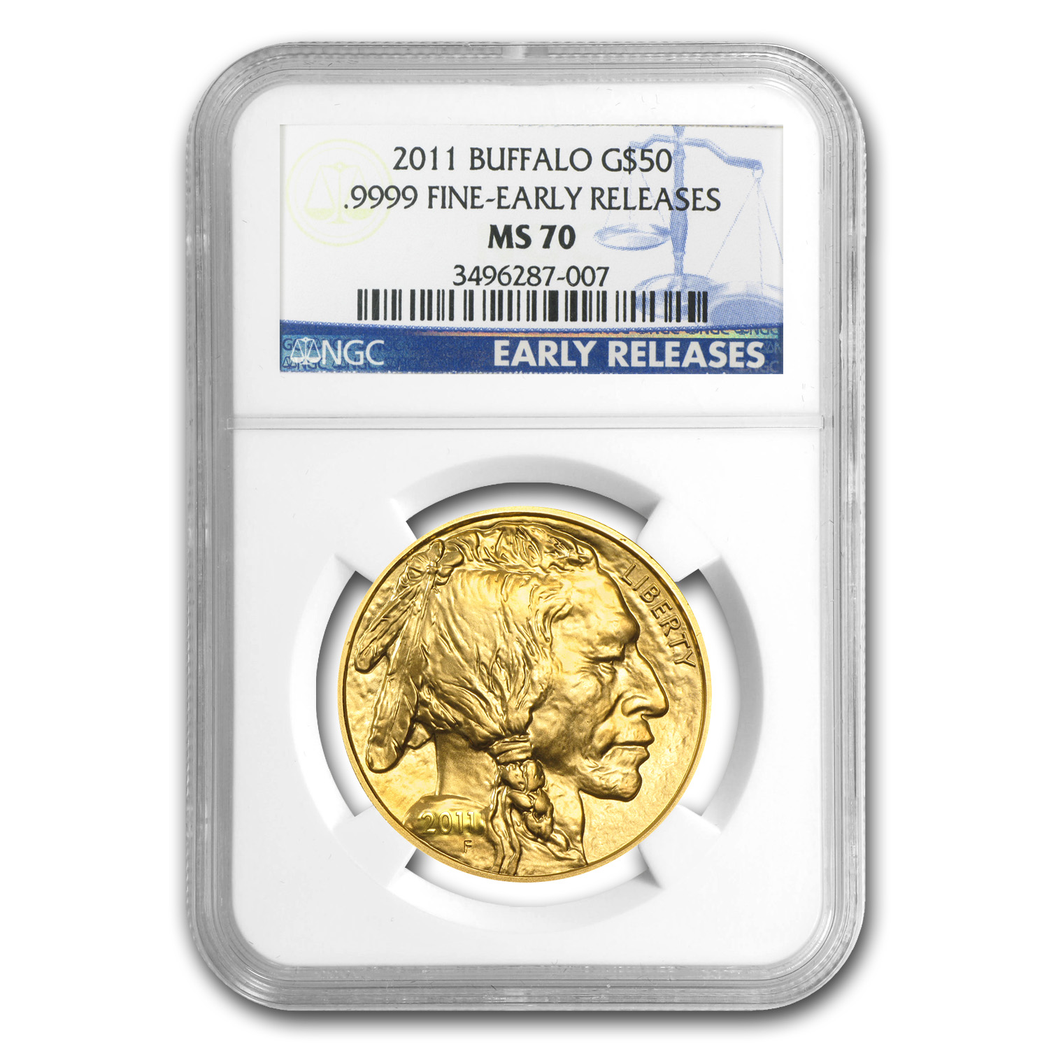 2006-2014 1 oz Gold Buffalo MS-70 NGC 9-Coin Set