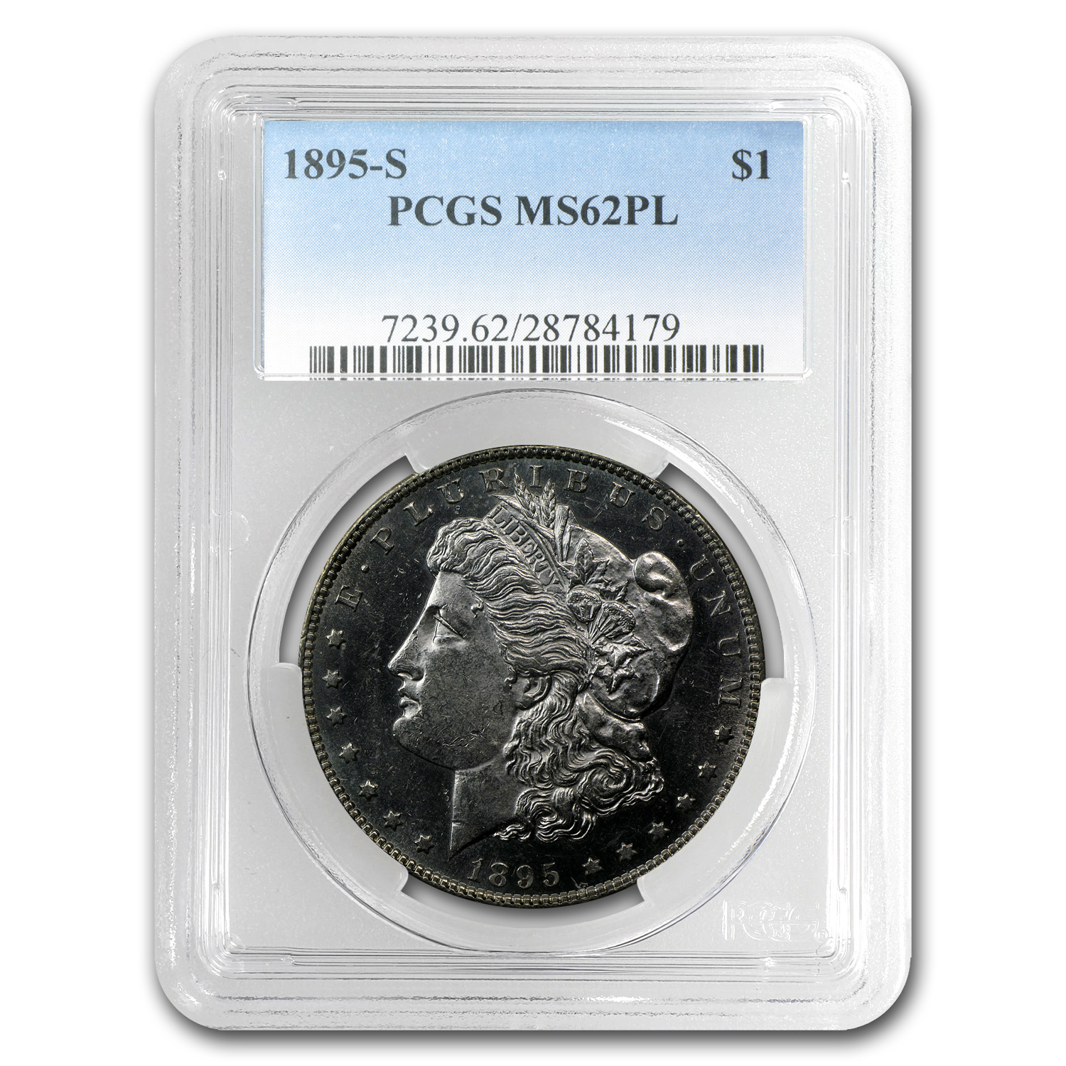 1895-S Morgan Dollar MS-62 PL Proof Like PCGS