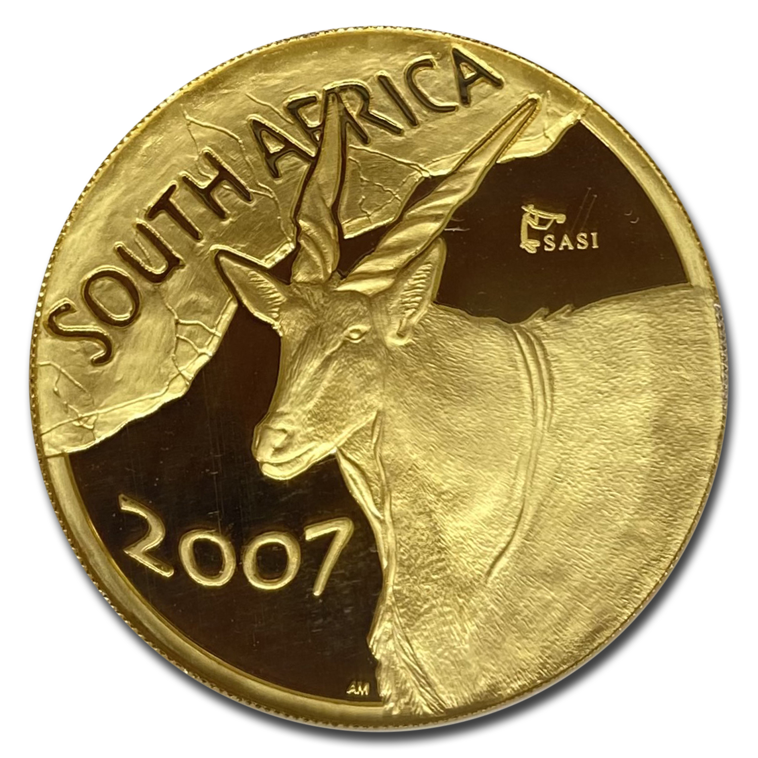 2007 South Africa 1 oz Gold Natura Eland PF-69 NGC