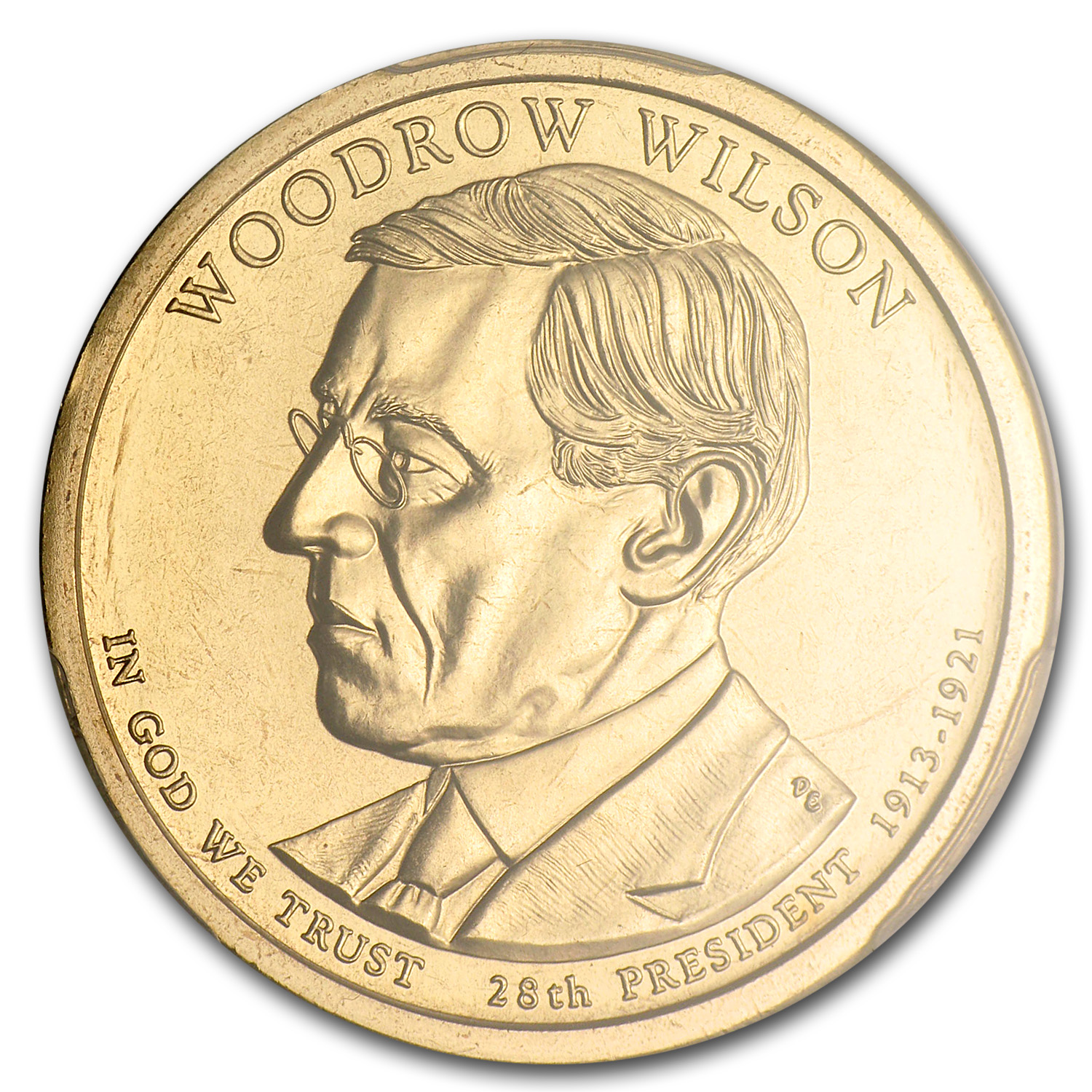 2013-P A Position Woodrow Wilson Presidential Dollar MS-66 PCGS