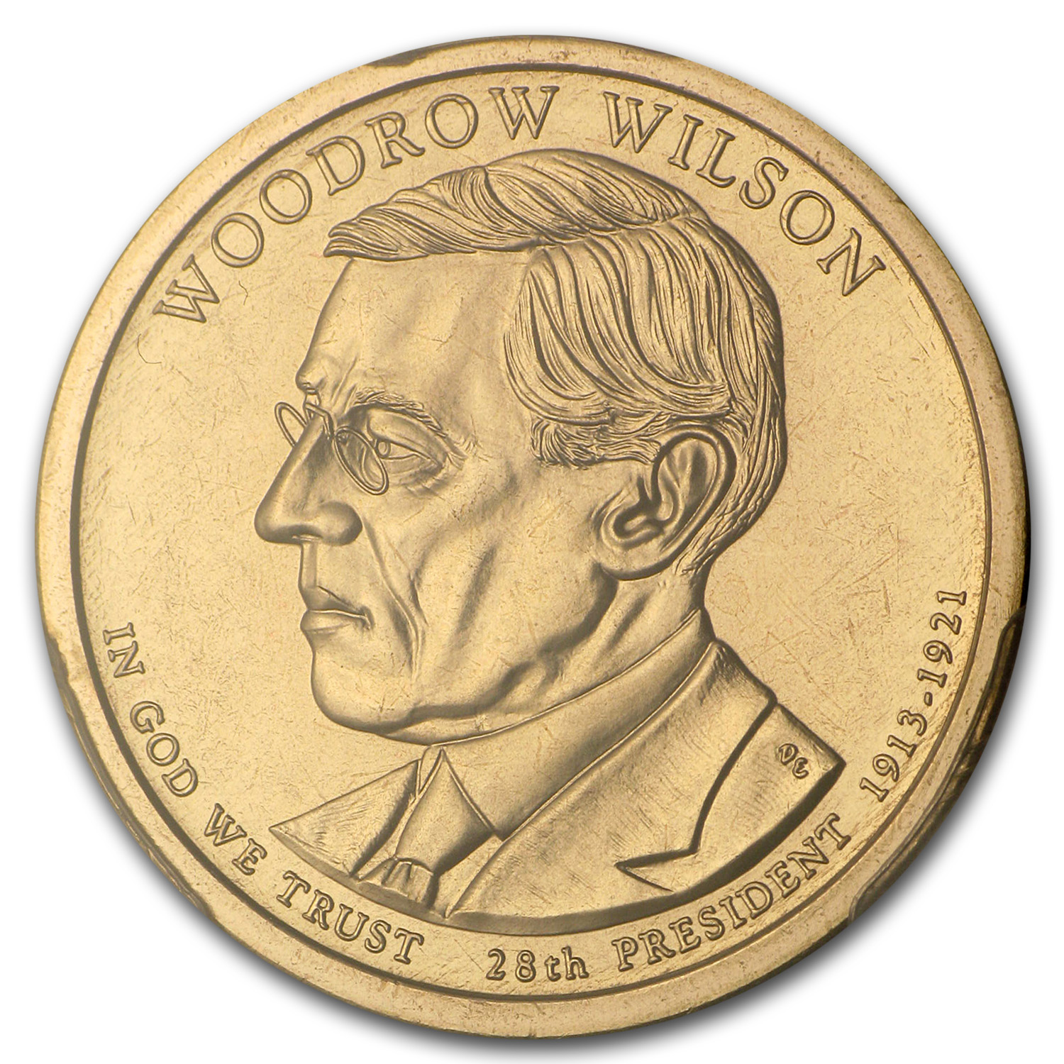 2013-P A Position Woodrow Wilson Presidential Dollar MS-68 PCGS