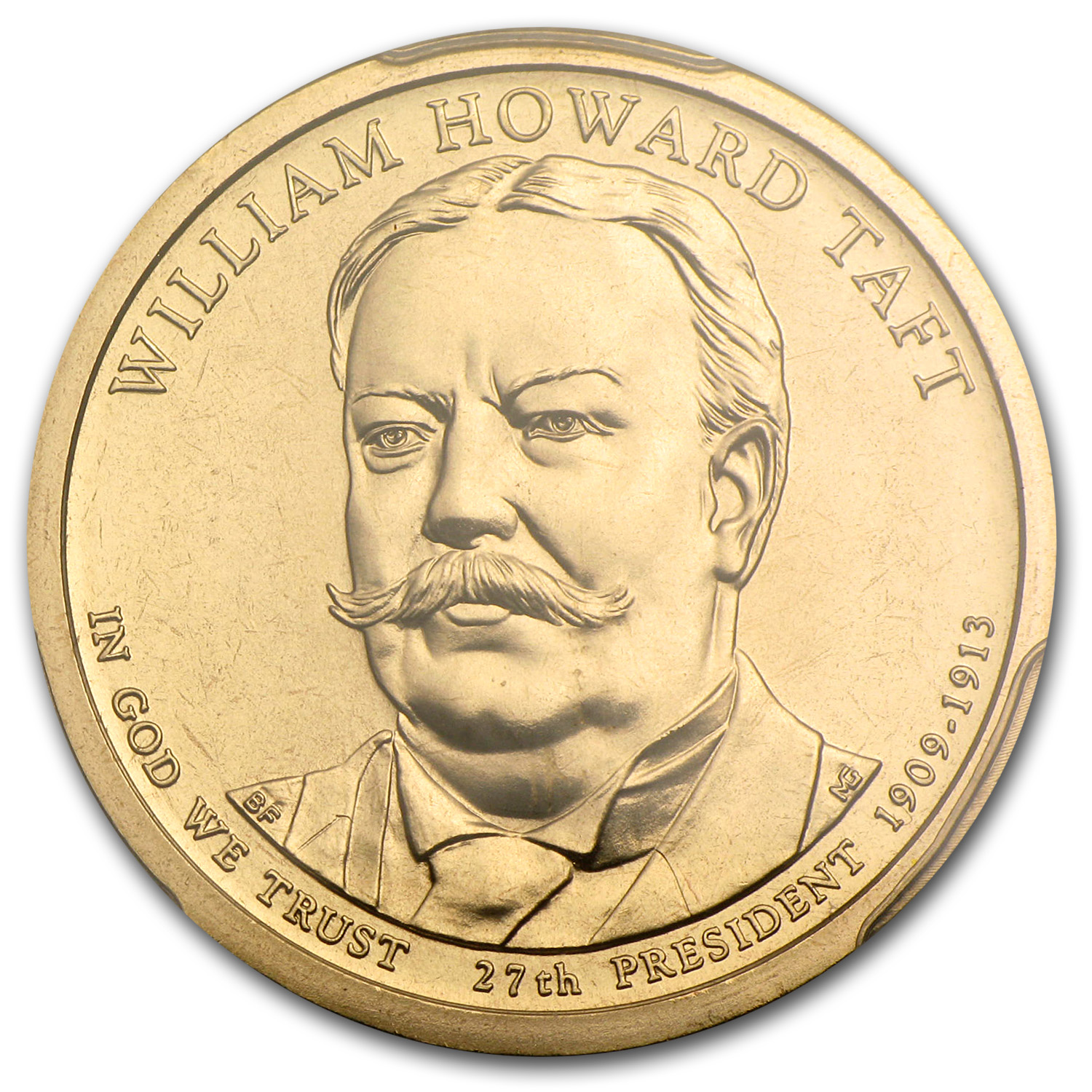 2013-P William H. Taft Position A Presidential Dollar MS-68 PCGS