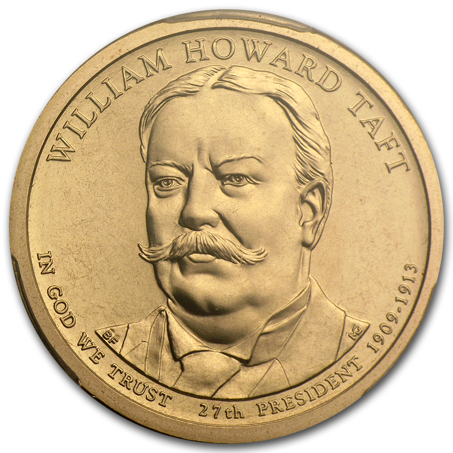 2013-P William H. Taft Position B Presidential Dollar MS-68 PCGS