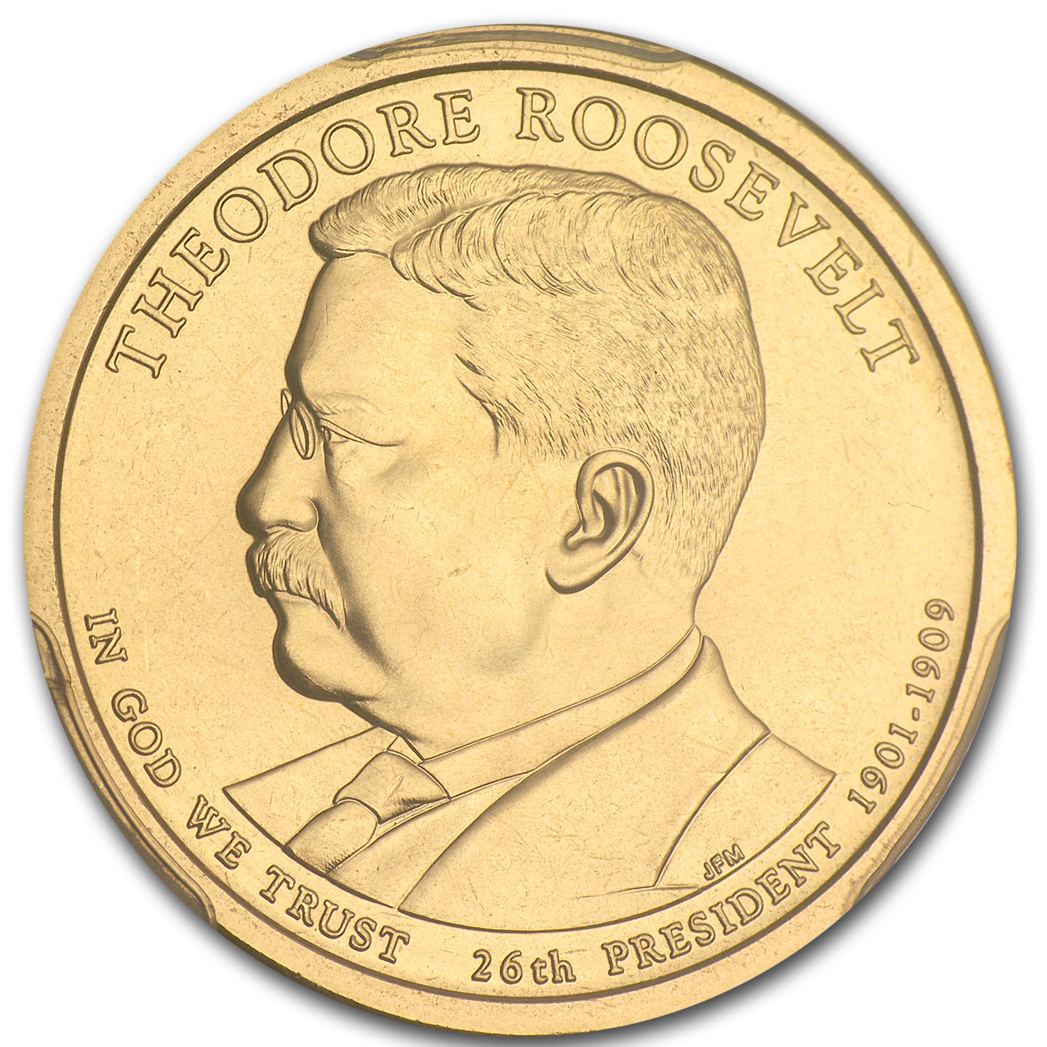 2013P Theodore Roosevelt Position A Presidential Dollar MS67 PCGS