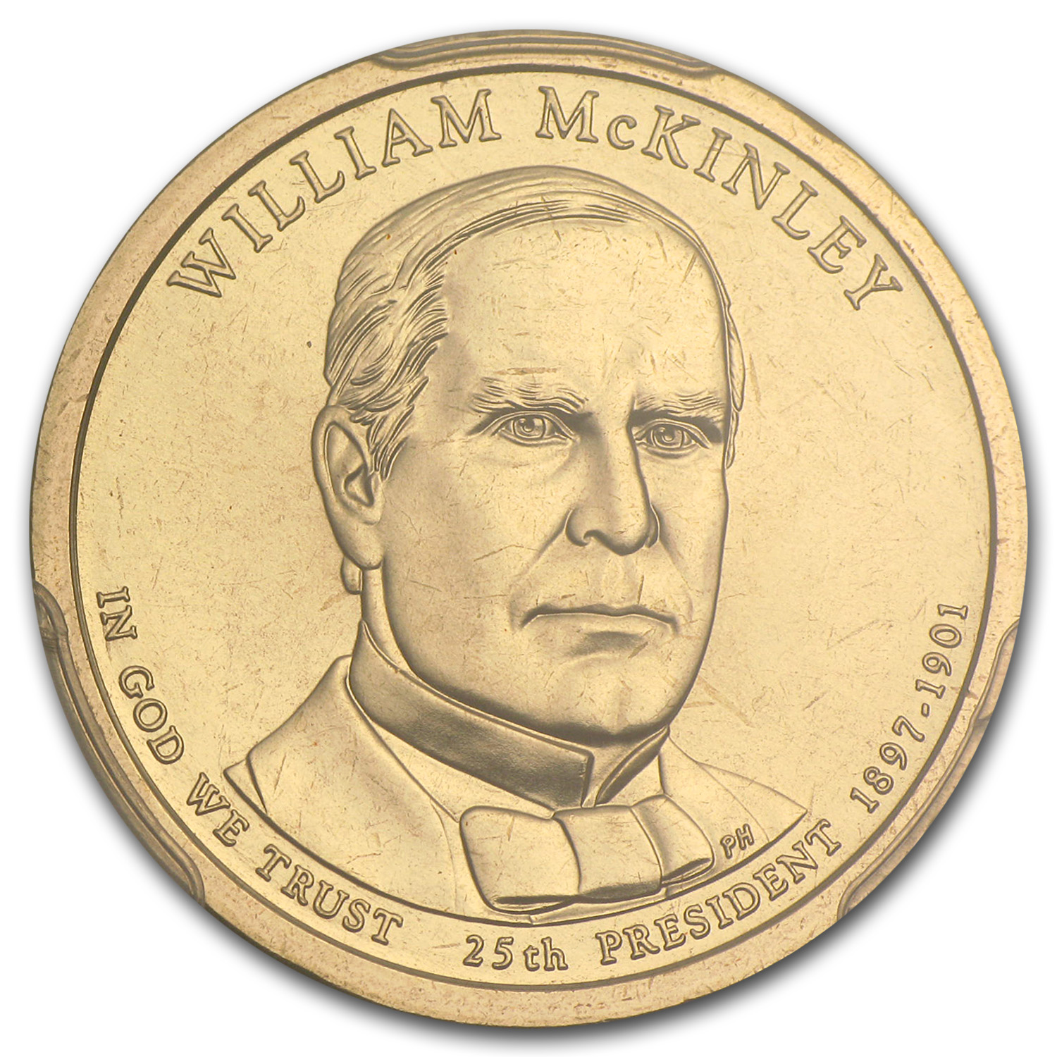 2013-P William McKinley Position B Presidential Dollar MS-67 PCGS