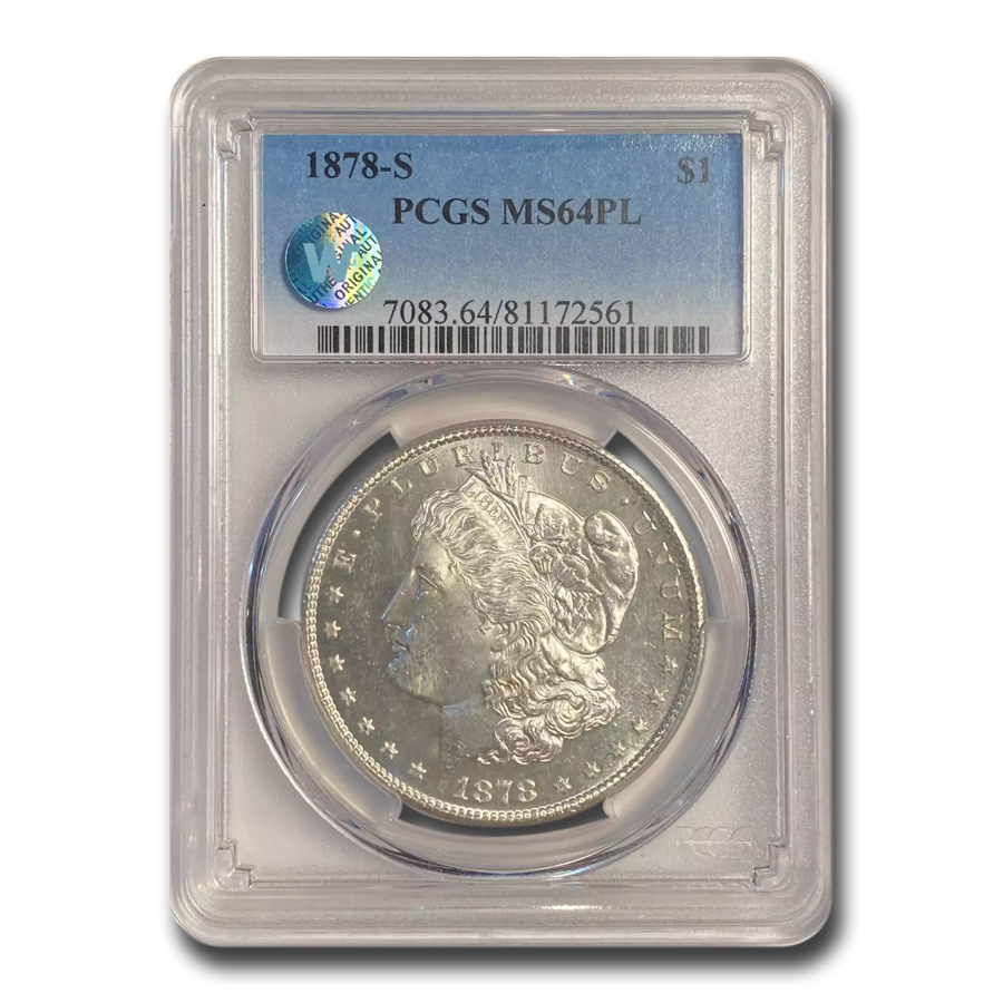 1878-S Morgan Dollar MS-64 PL Proof Like PCGS