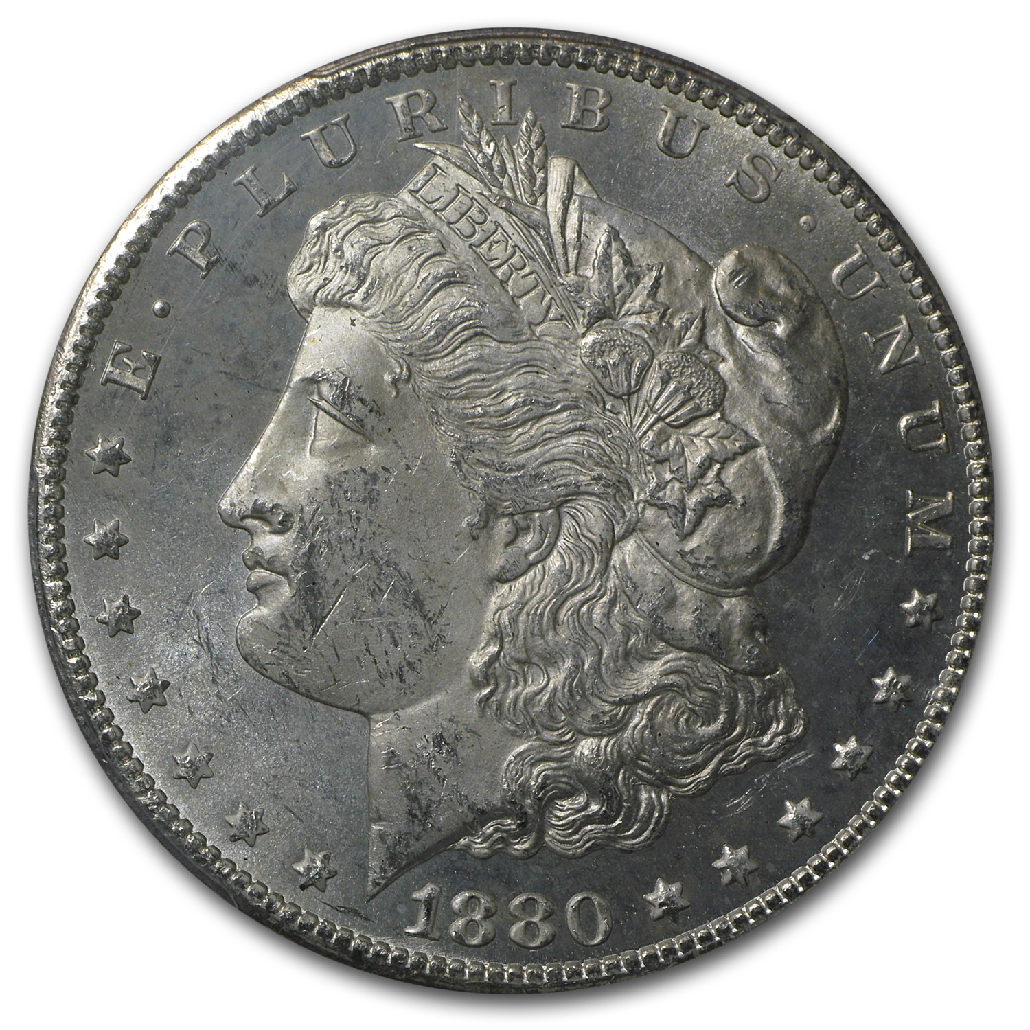 1880-CC Morgan Dollar MS-63 PL PCGS