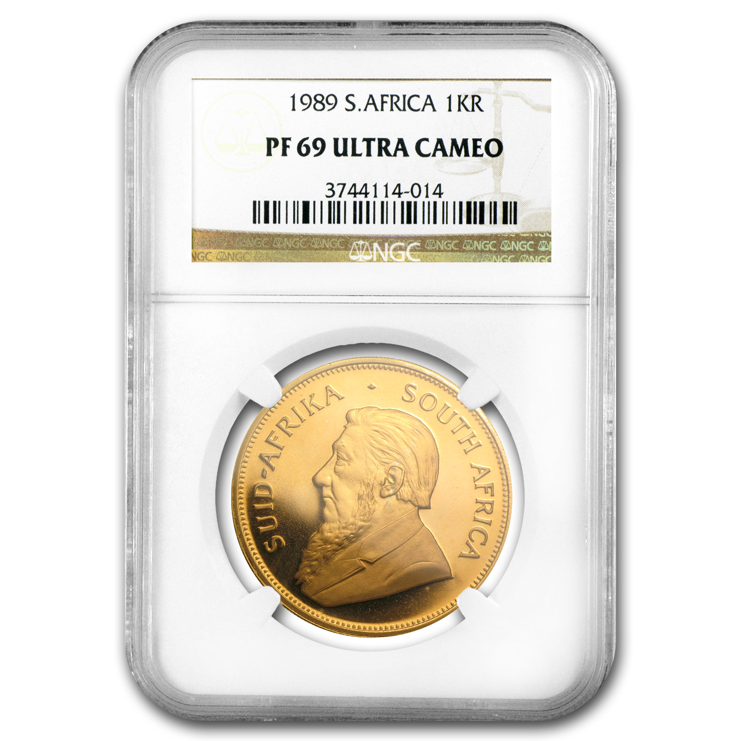 1989 South Africa 1 oz Gold Krugerrand PF-69 NGC