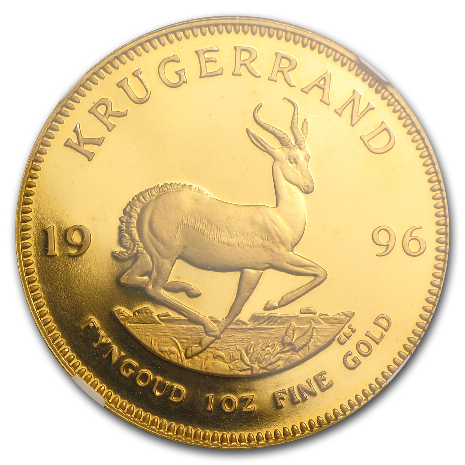 1996 1 oz Gold South African Krugerrand PF-67 NGC