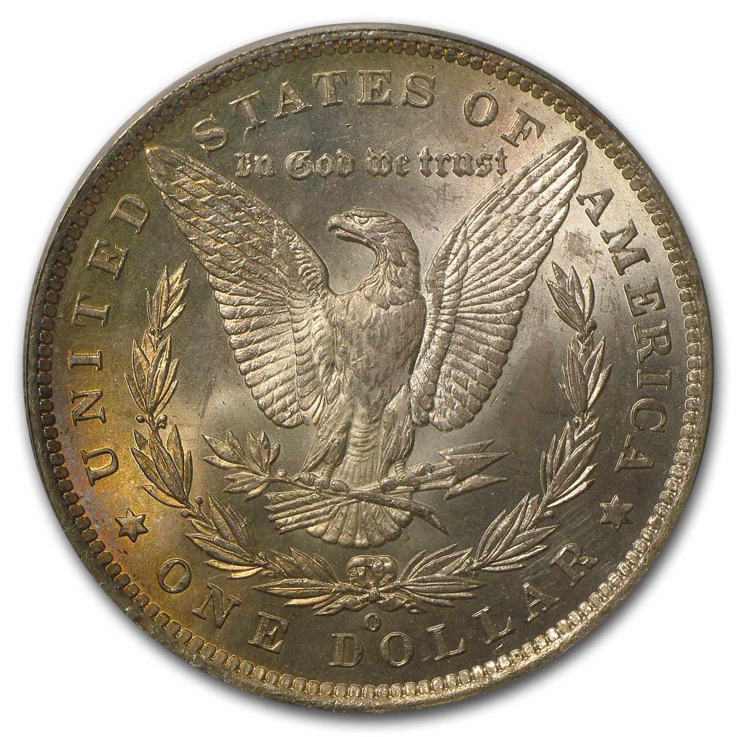 1885-O Morgan Dollar MS-65 PCGS (Beautiful Toning, CAC)