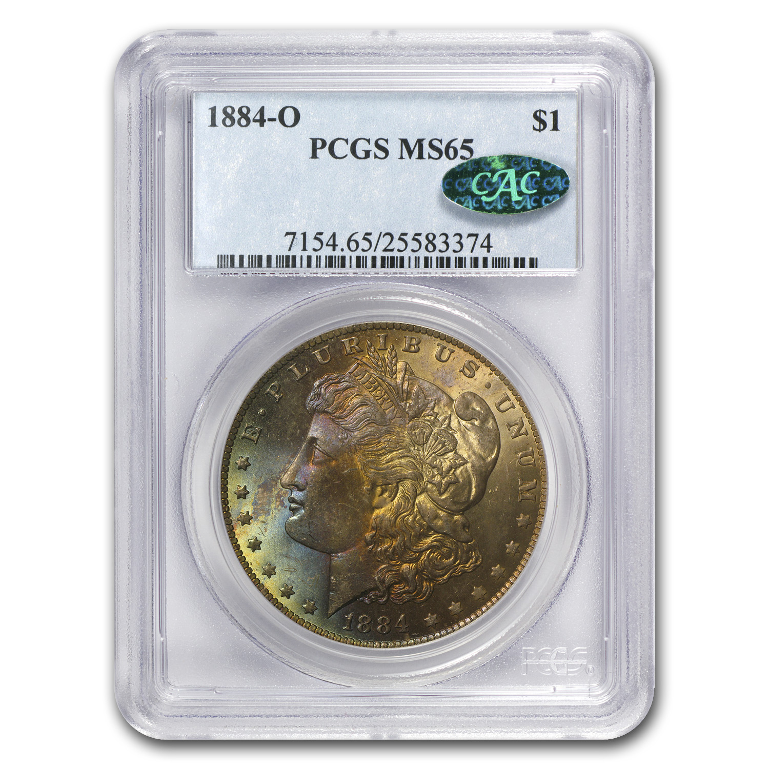 1885-O Morgan Dollar MS-65 PCGS - Beautiful Toning - CAC