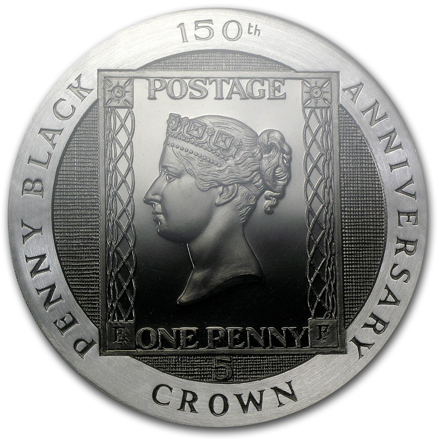 Isle of Man 1990 5 Crown Silver Penny Black NGC Gem Proof