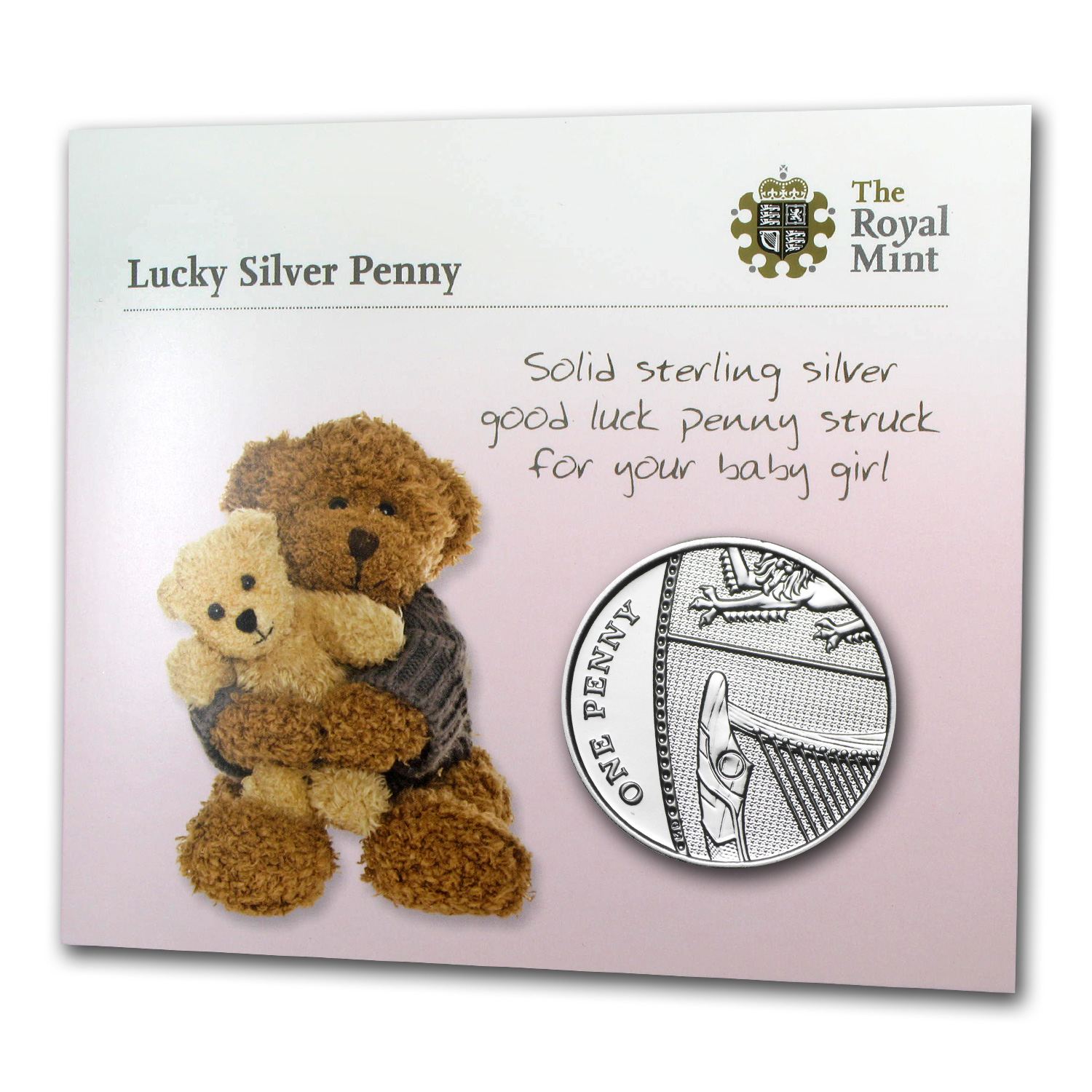 2014 Great Britain Silver Lucky Penny (Pink for Girls)