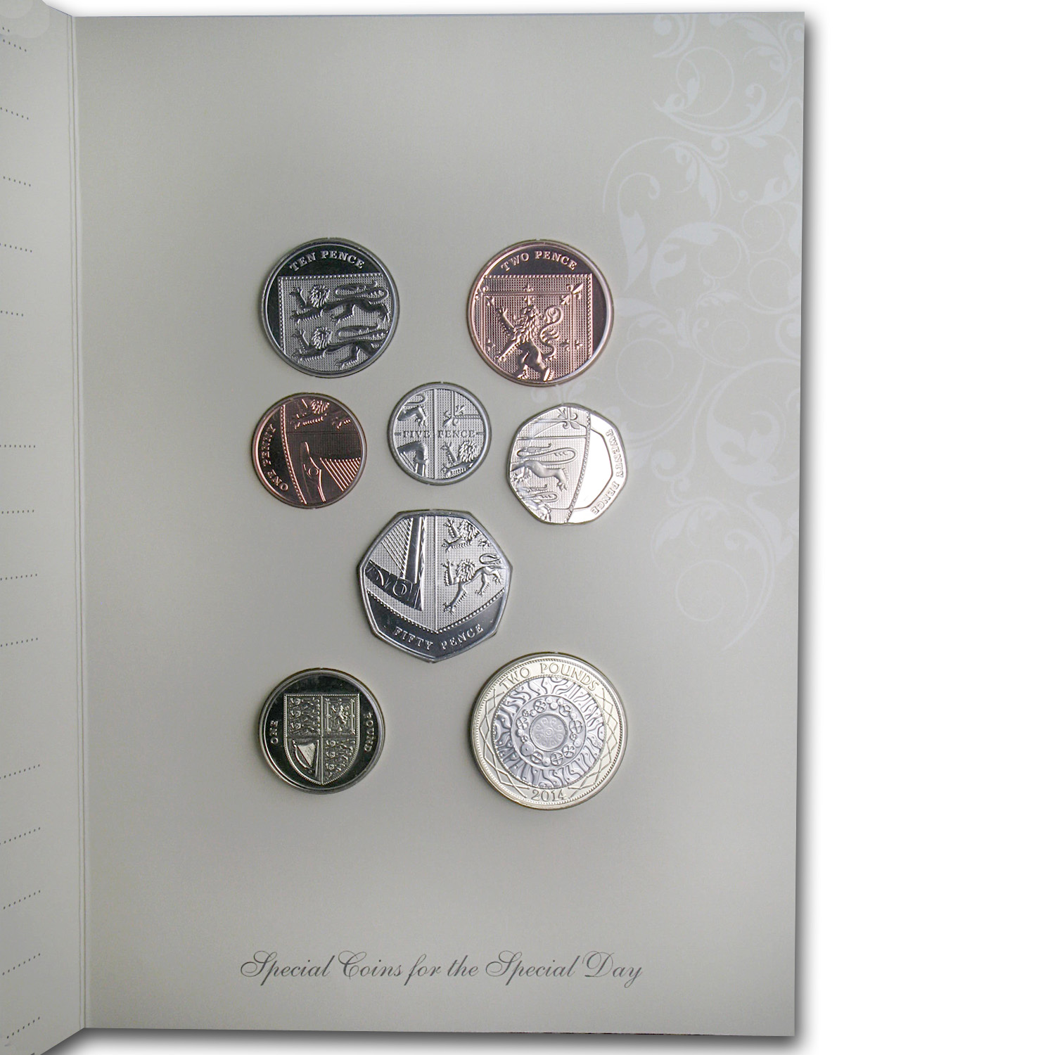 2014 Great Britain Wedding Coins Gift Pack BU