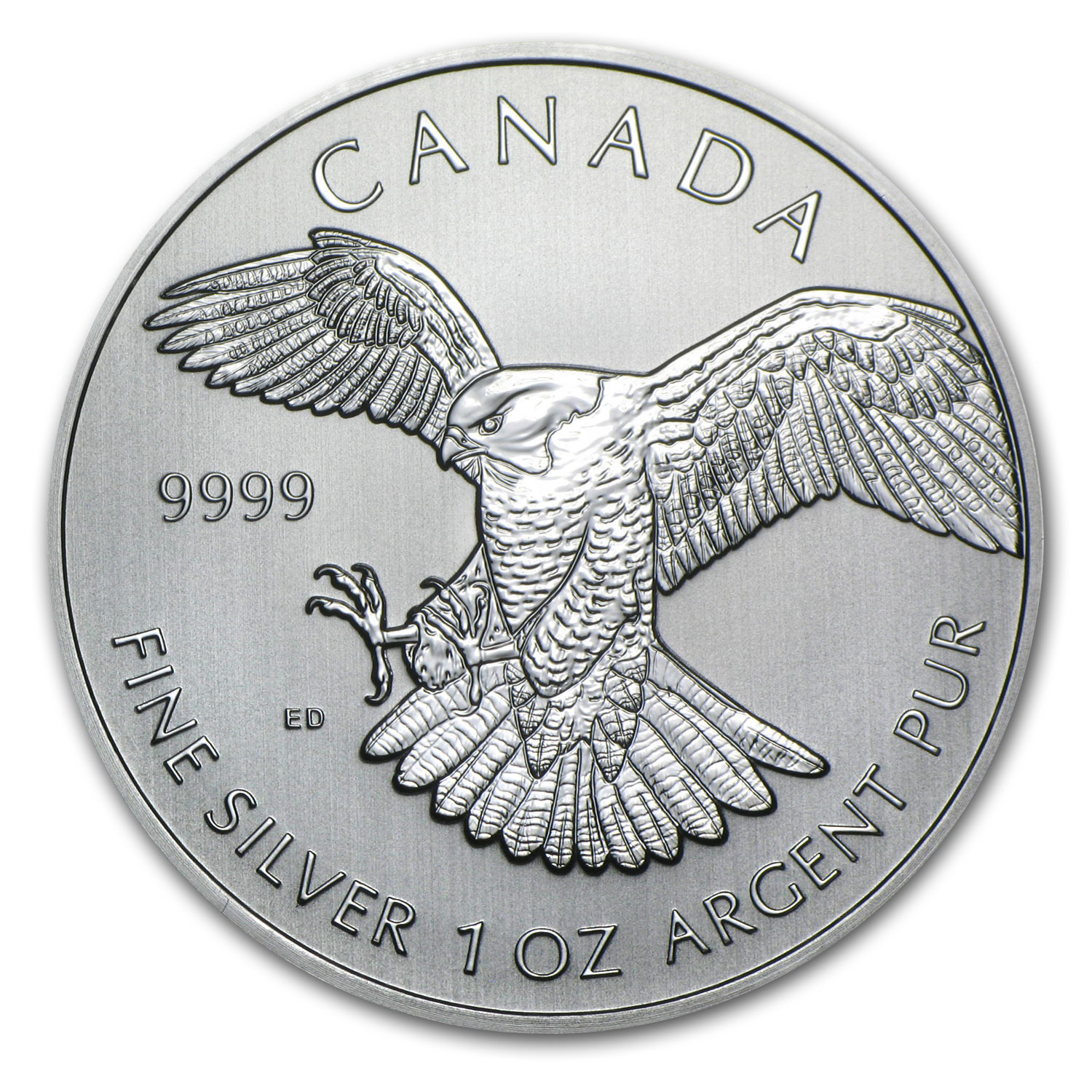 2014 RCM 1 oz Silver Birds of Prey Series Peregrine Falcon