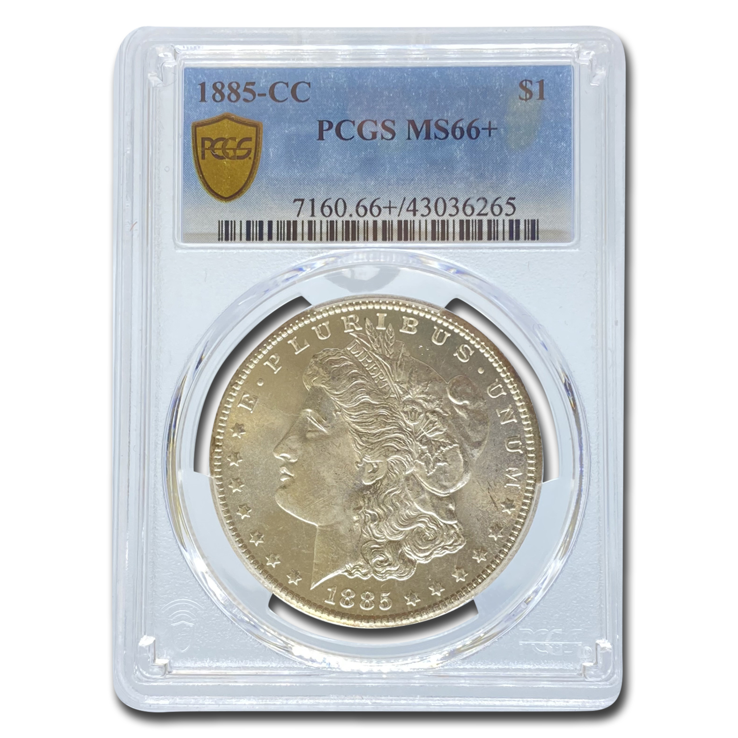 1885-CC Morgan Dollar MS-66+ Plus PCGS