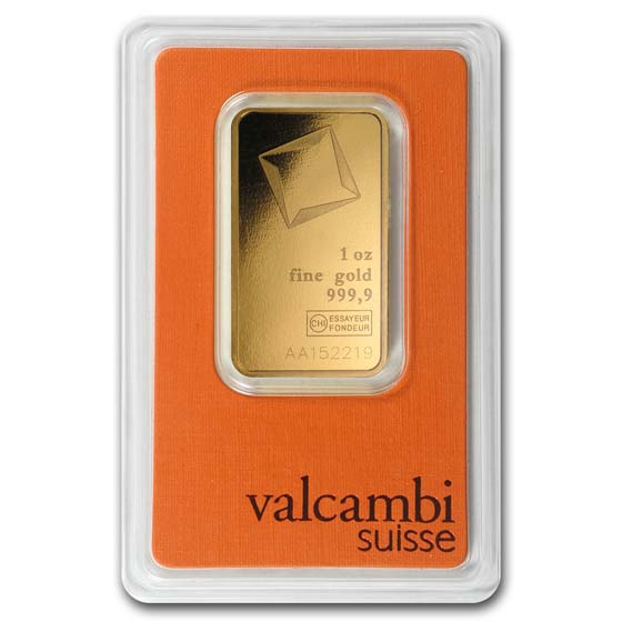 1 oz Gold Bar - Valcambi (In Assay)